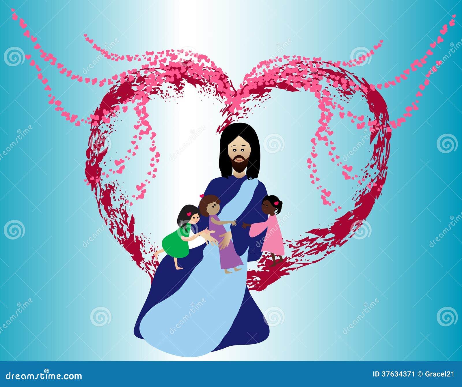 Crianças de amor de Jesus