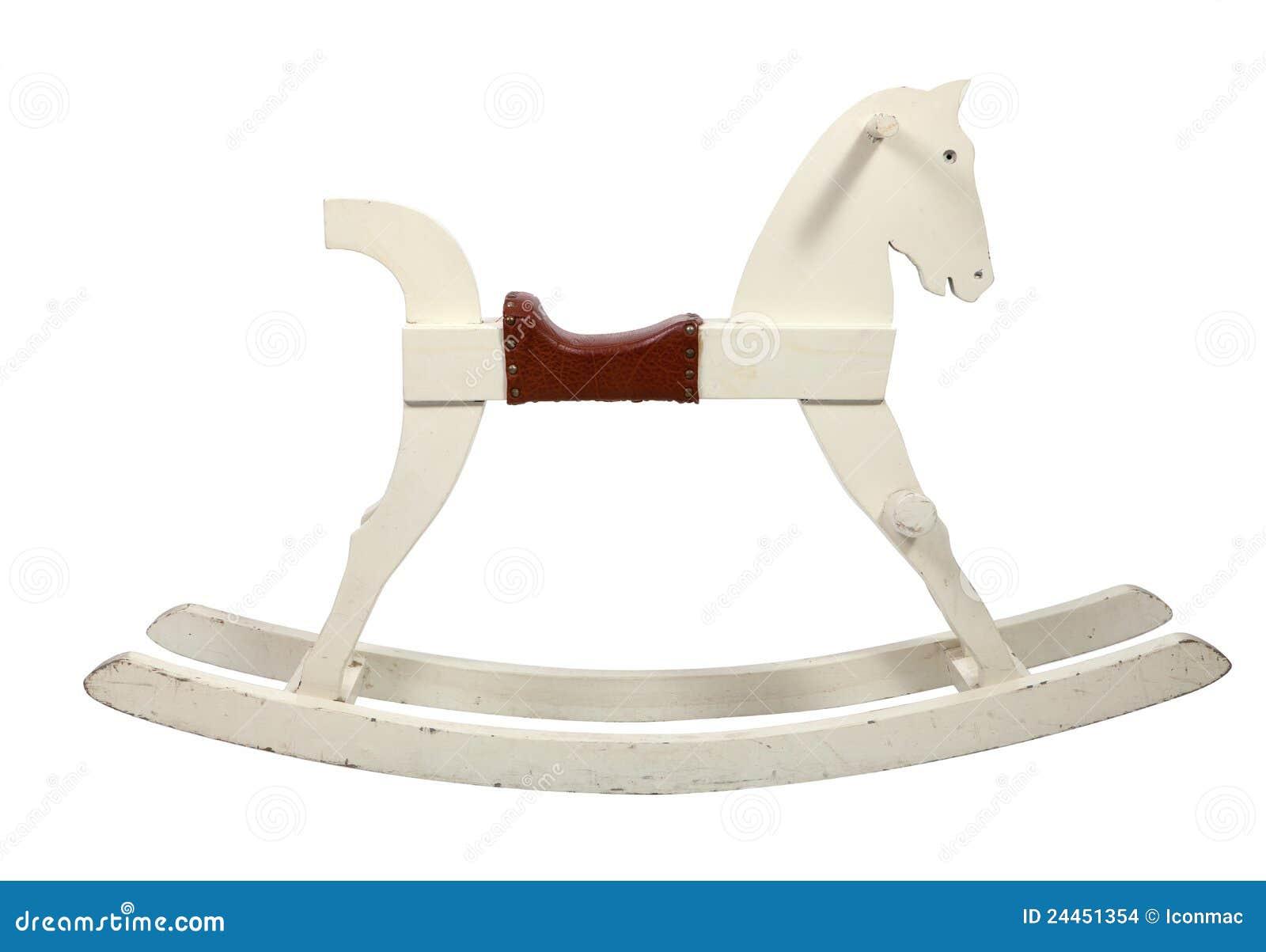 Imagens de Stock: Crianças de madeira brancas da cadeira do cavalo de  #4F1808 1300x995
