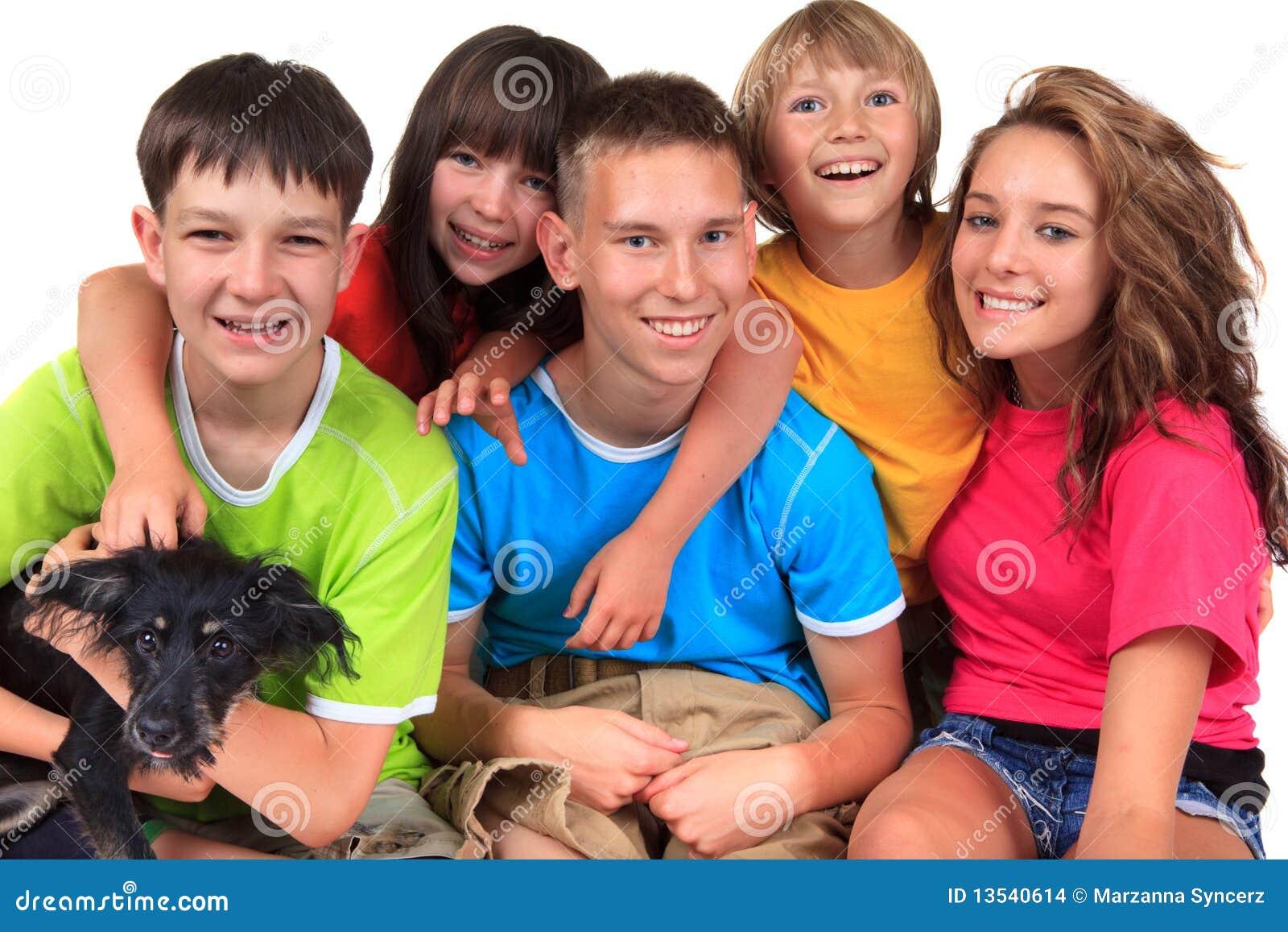 Crianças de sorriso