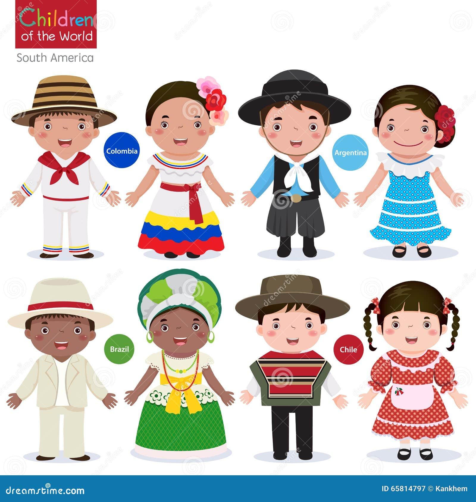 Crianças do mundo-Colômbia-Argentina-Brasil-Chile