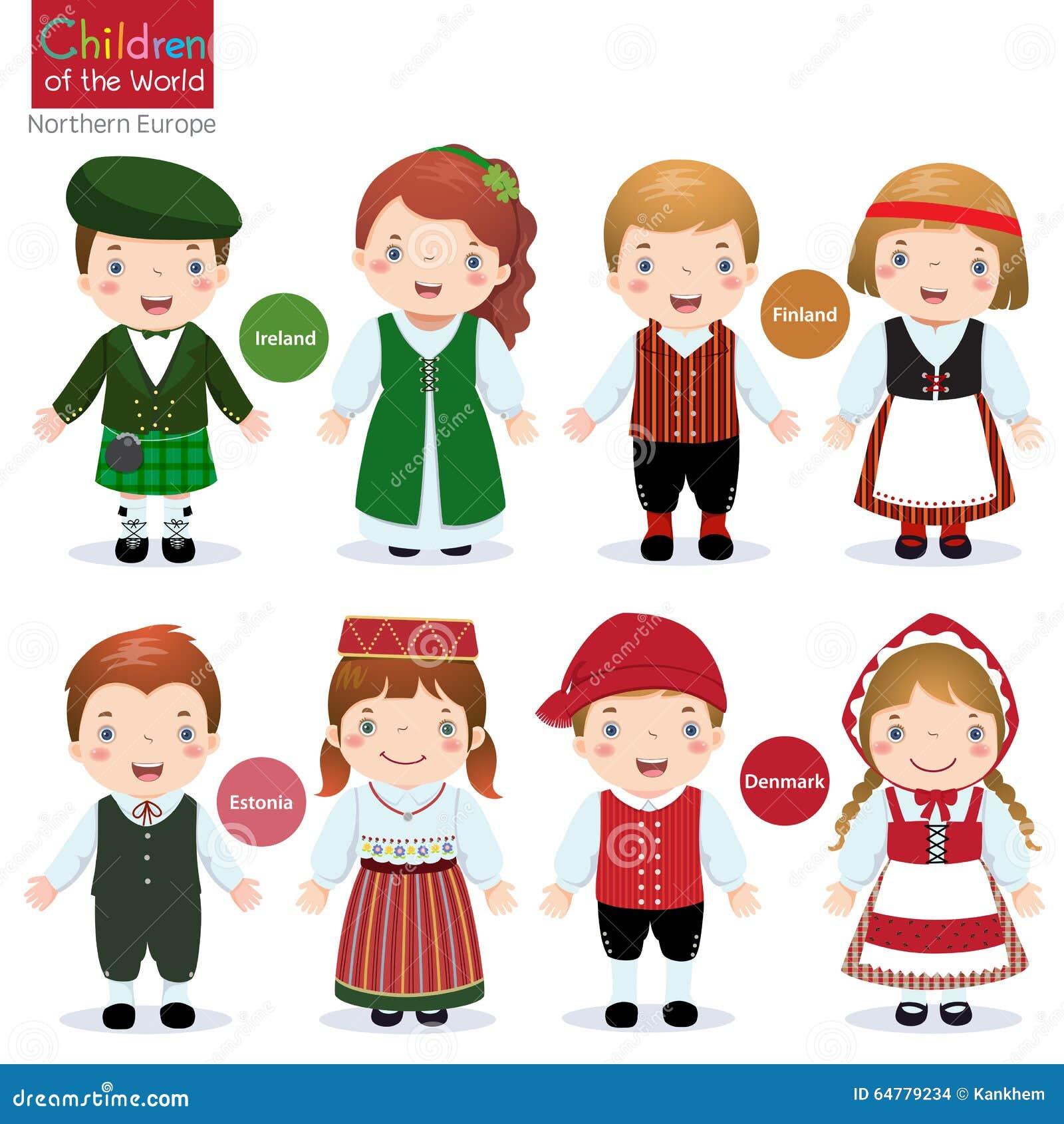 Crianças Do Mundo (Irlanda, Finlandia, Estônia E Dinamarca ...