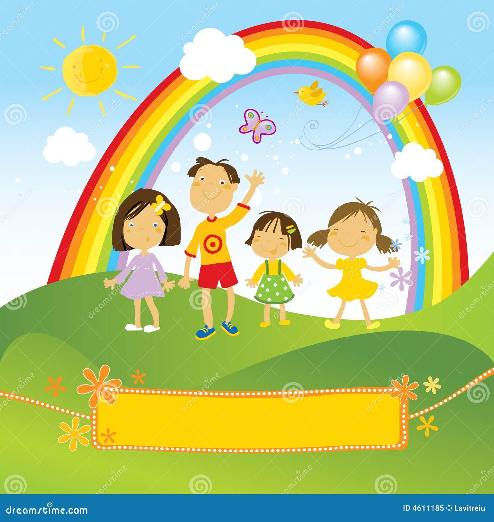 Crianças felizes que comemoram