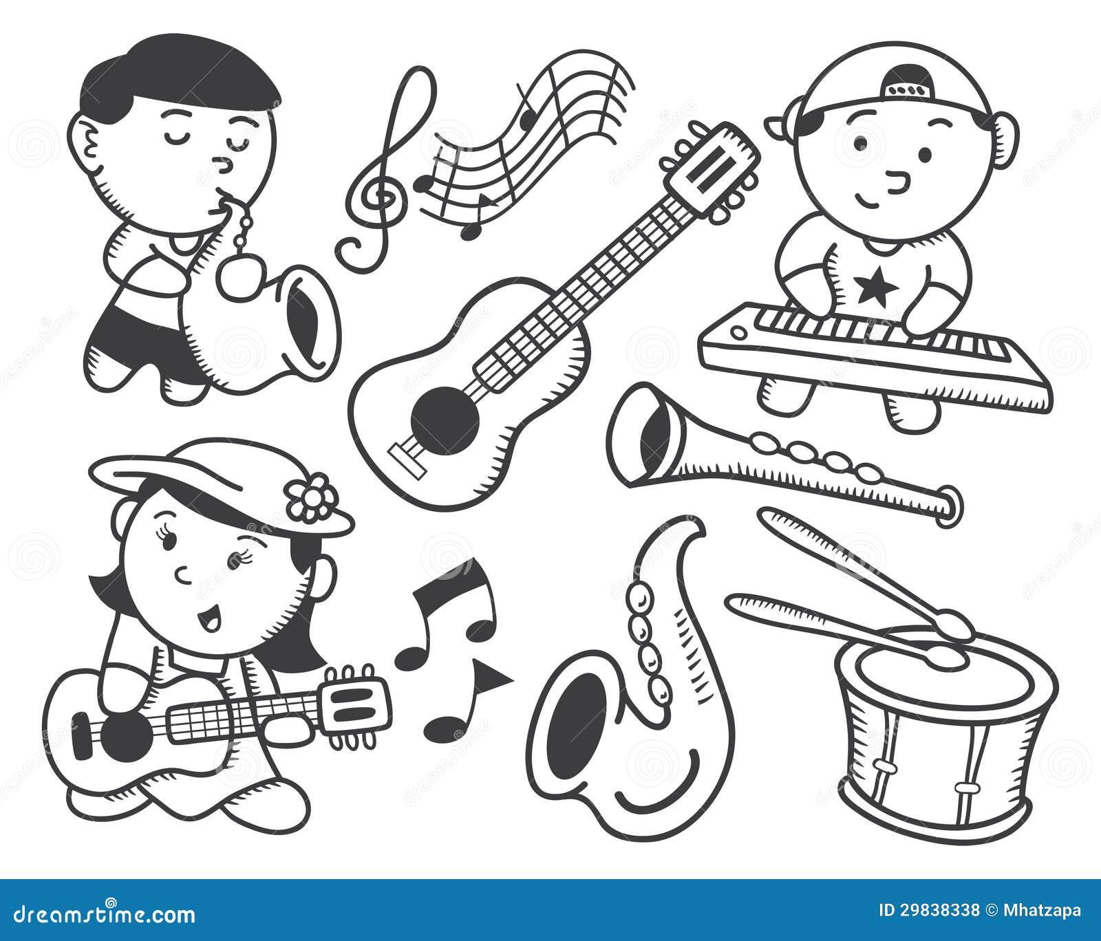 Crianças que jogam a música