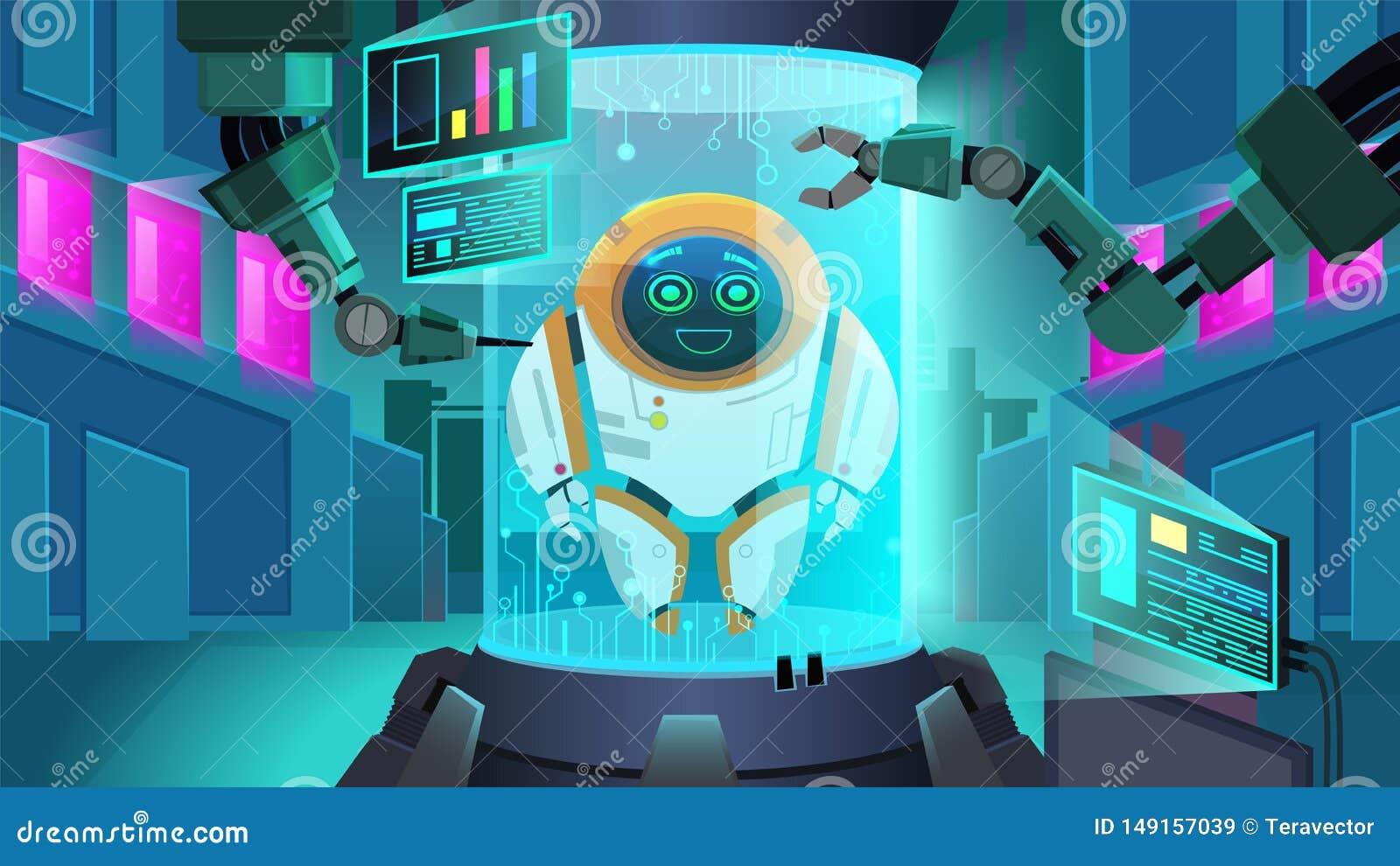 Criando a ilustração do vetor de Next Generation do robô