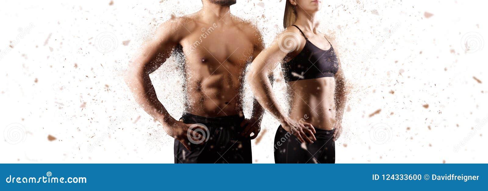 Criando o homem perfeito e o conceito de parte superior do corpo fêmea