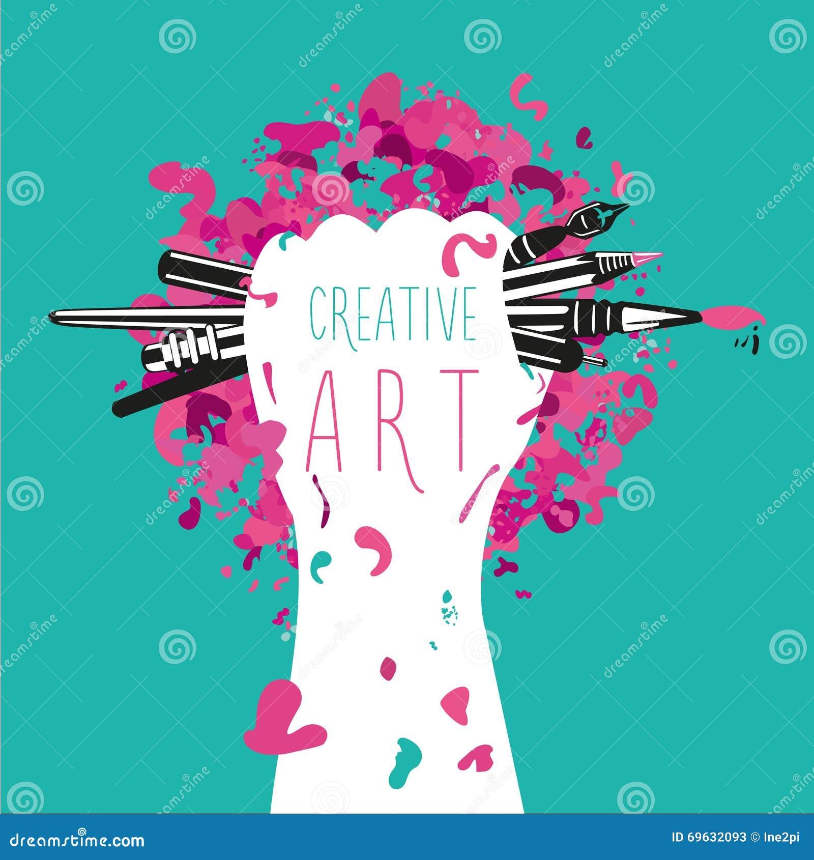 Criativo e arte a m o est guardando ferramentas das artes for Minimal art que es