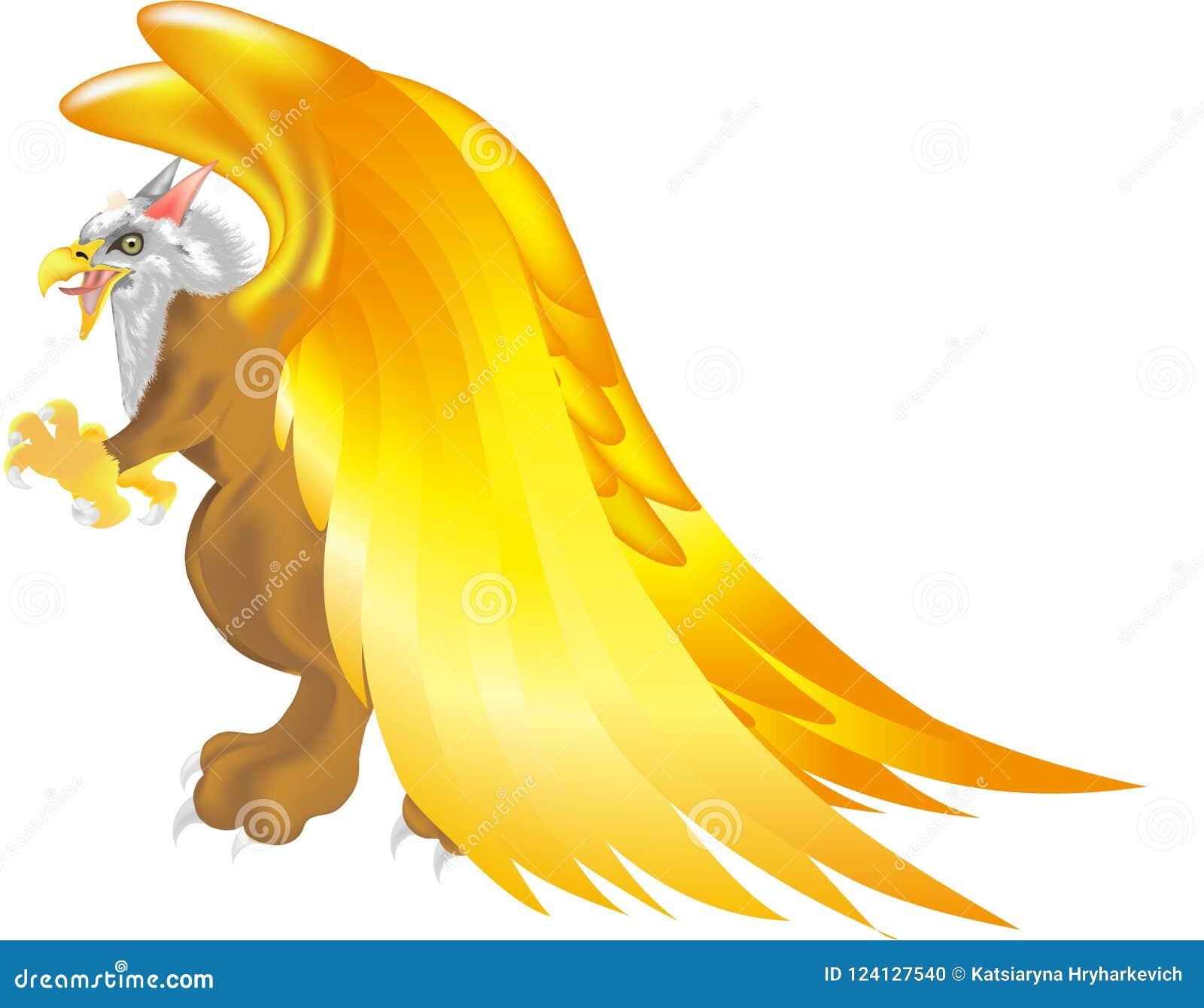 Criatura mitológica del vuelo del griego clásico