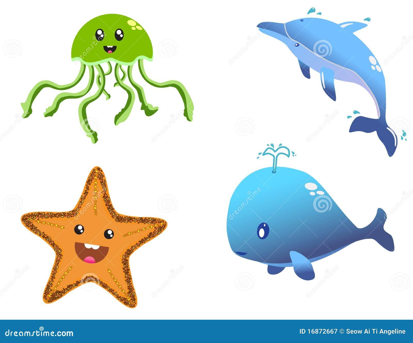 Criaturas felizes do mar