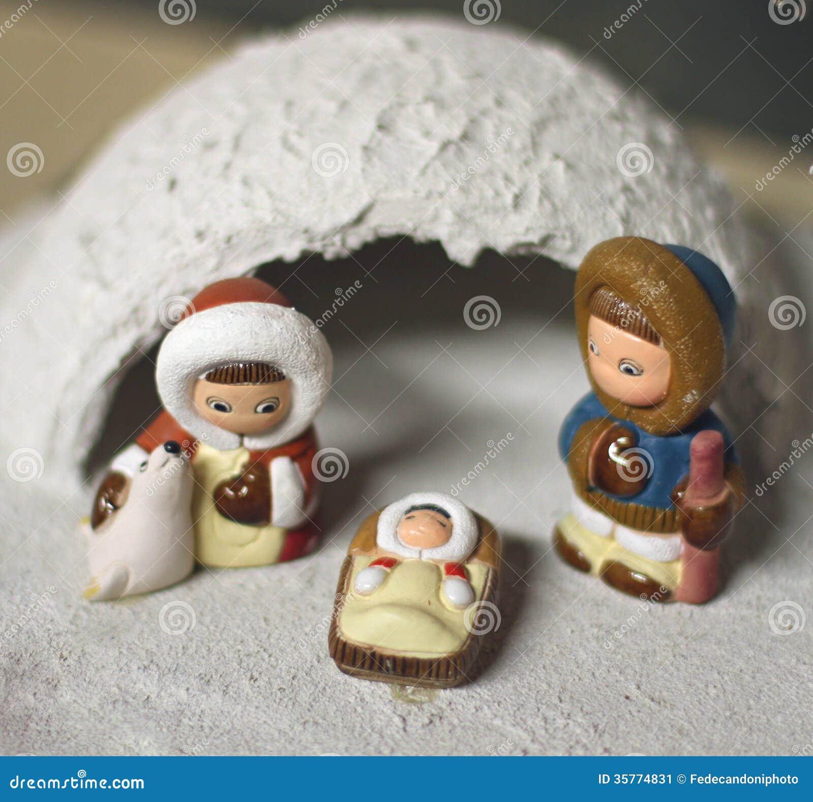 Crib In Eskimo Of North Pole Version 2 Stock Image Image