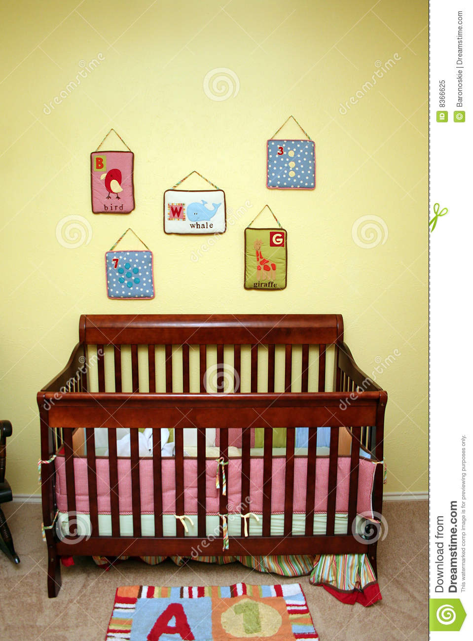 Crib In Nursery Royalty Free Stock Photo Image 8366625