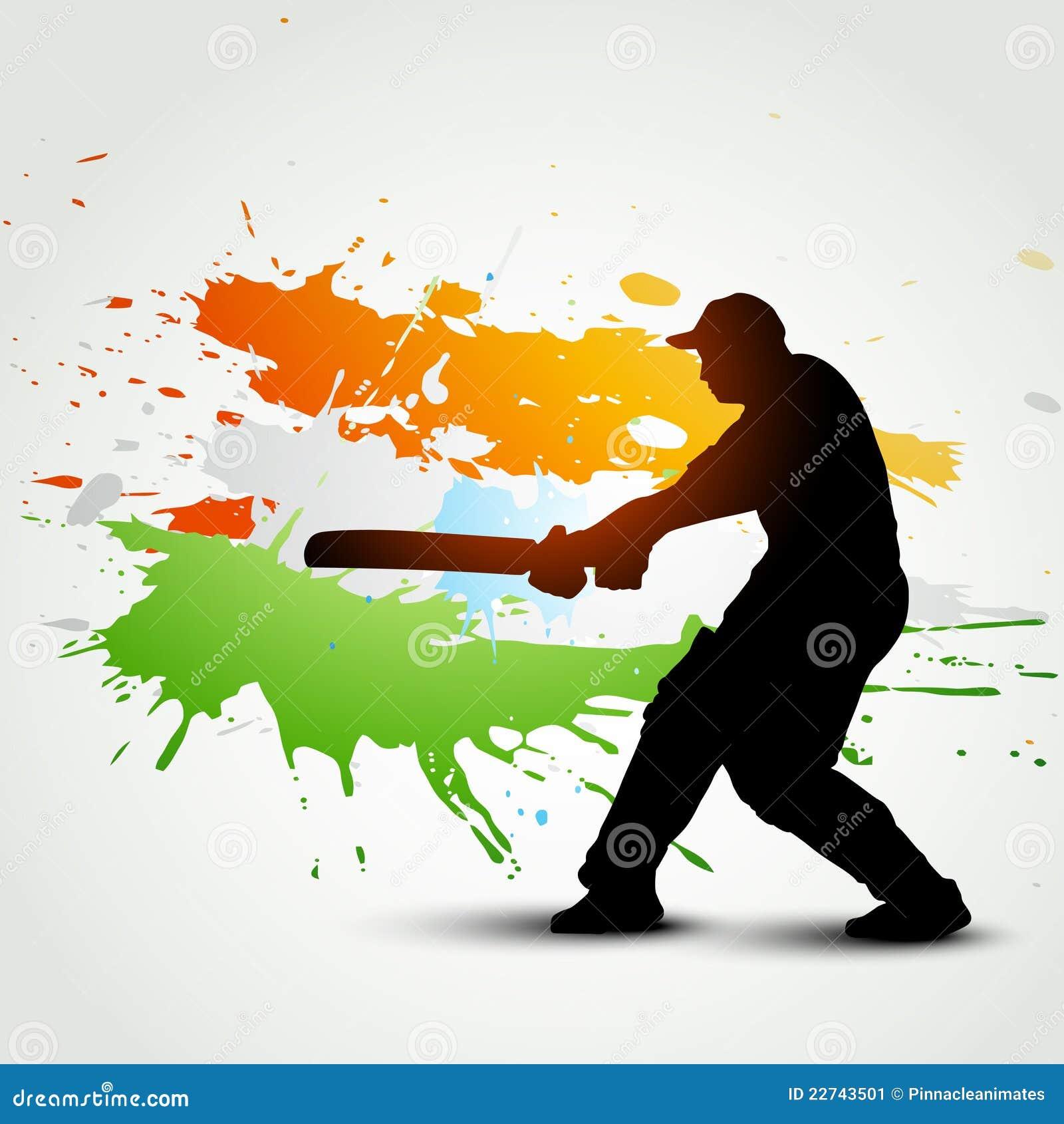 cricket background stock vector image of shot sportsman
