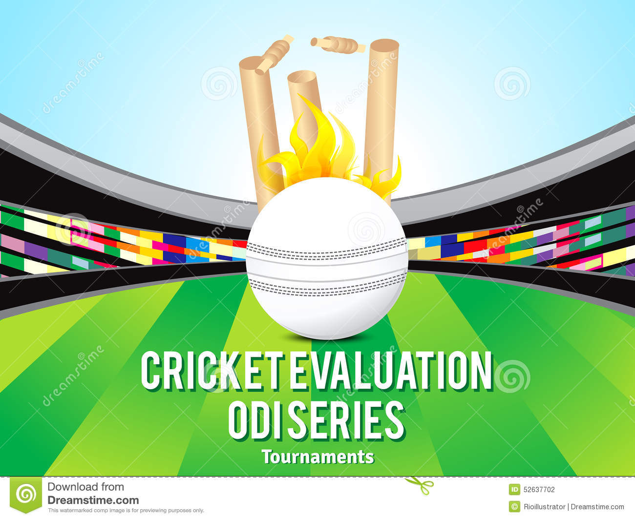 Cricket Vector Background Stock Image