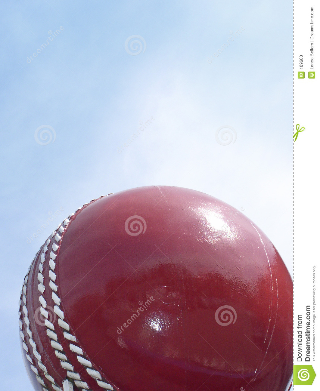Download Cricket ball and sky stock photo. Image of bowling, leather - 109600