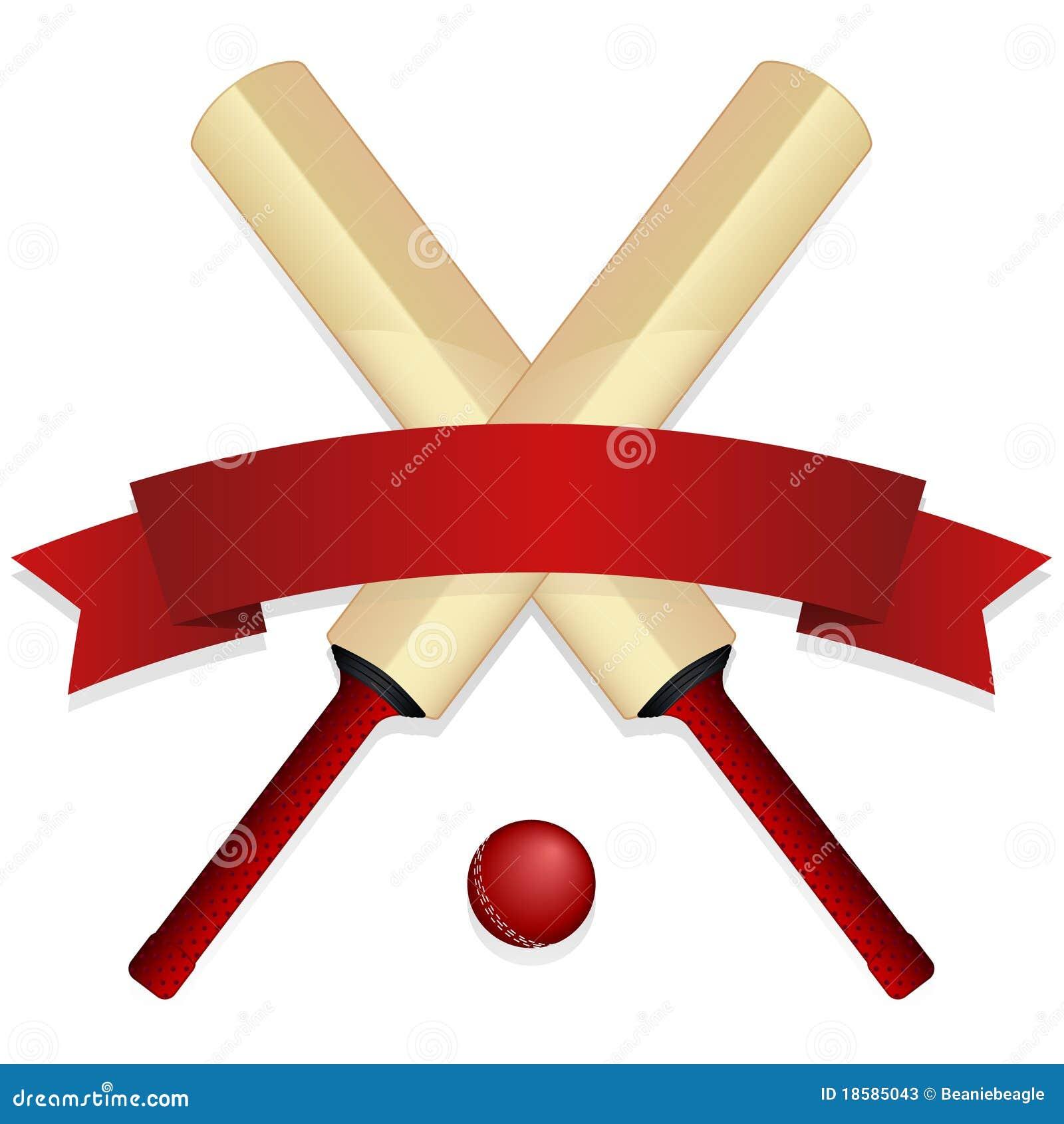 Cricket Bat Emblem