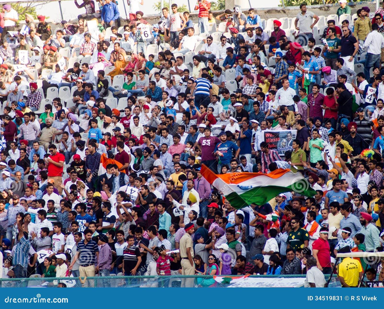 Cricket Crowd India Celebrate Editorial Photo - Image ...