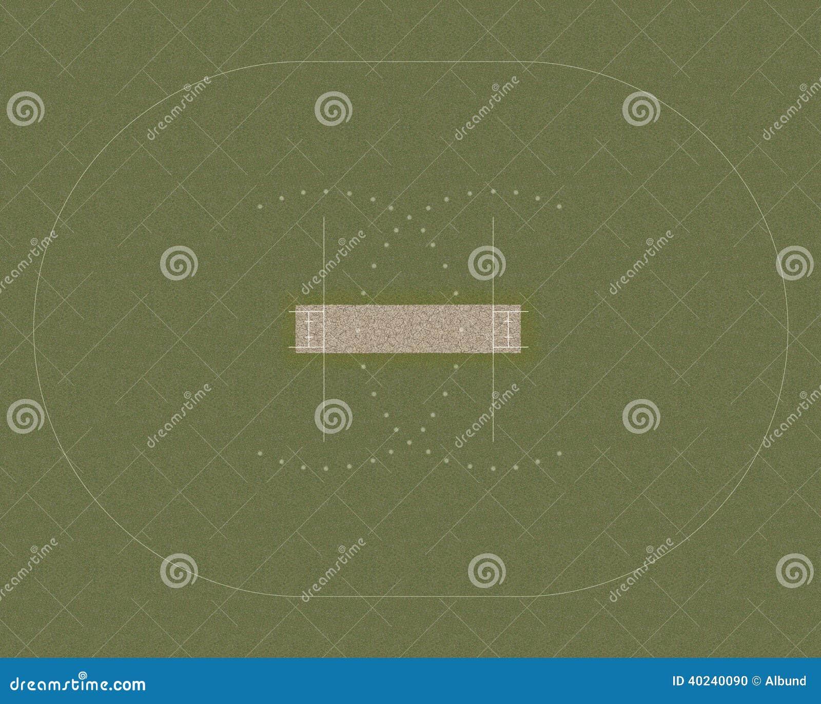 Cricket Field Layout Illustration 40240090 Megapixl