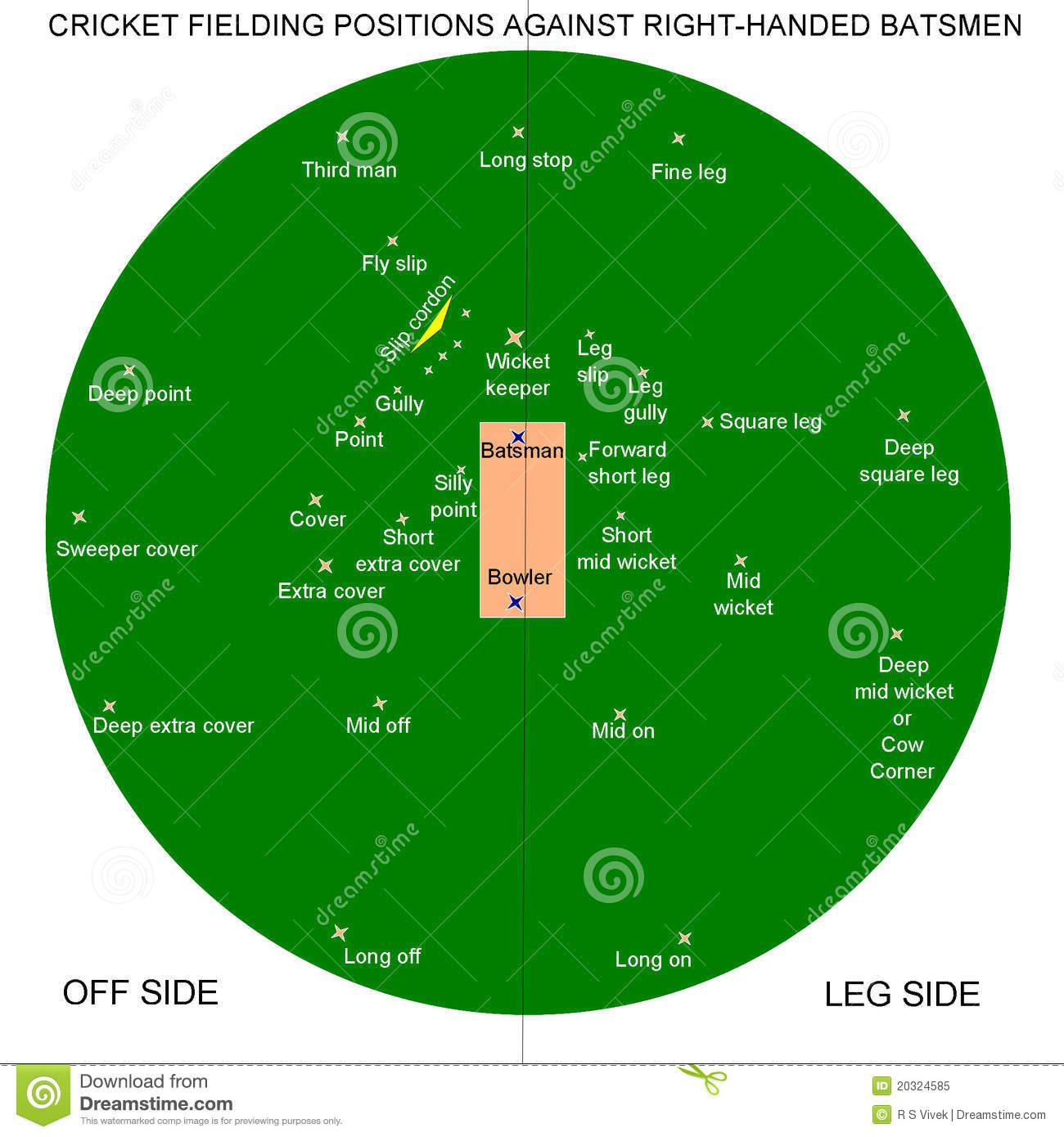 cricket fielding positions