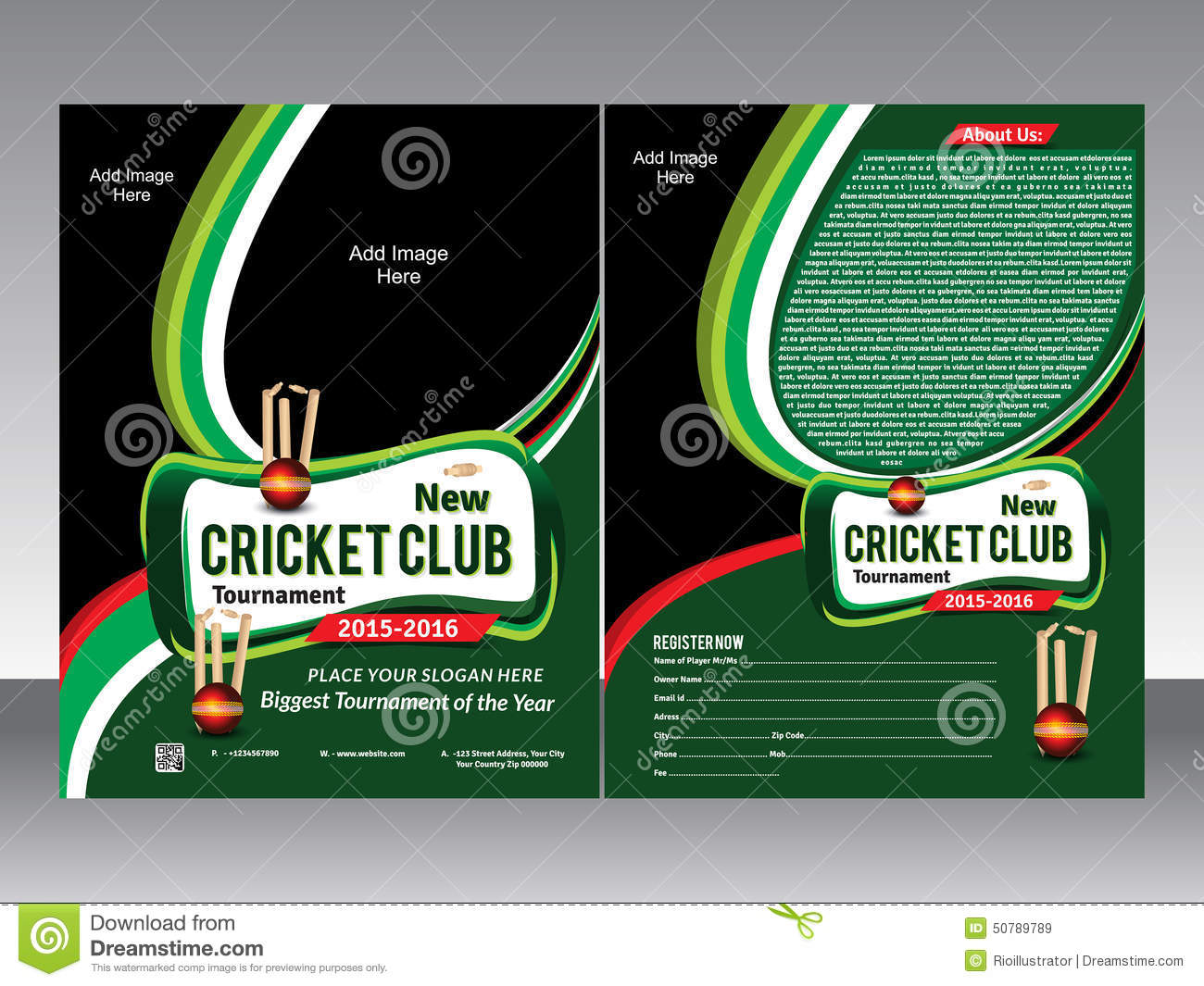 Cricket Flyer Template Stock Vector Illustration Of Leisure - Customer appreciation flyer template free