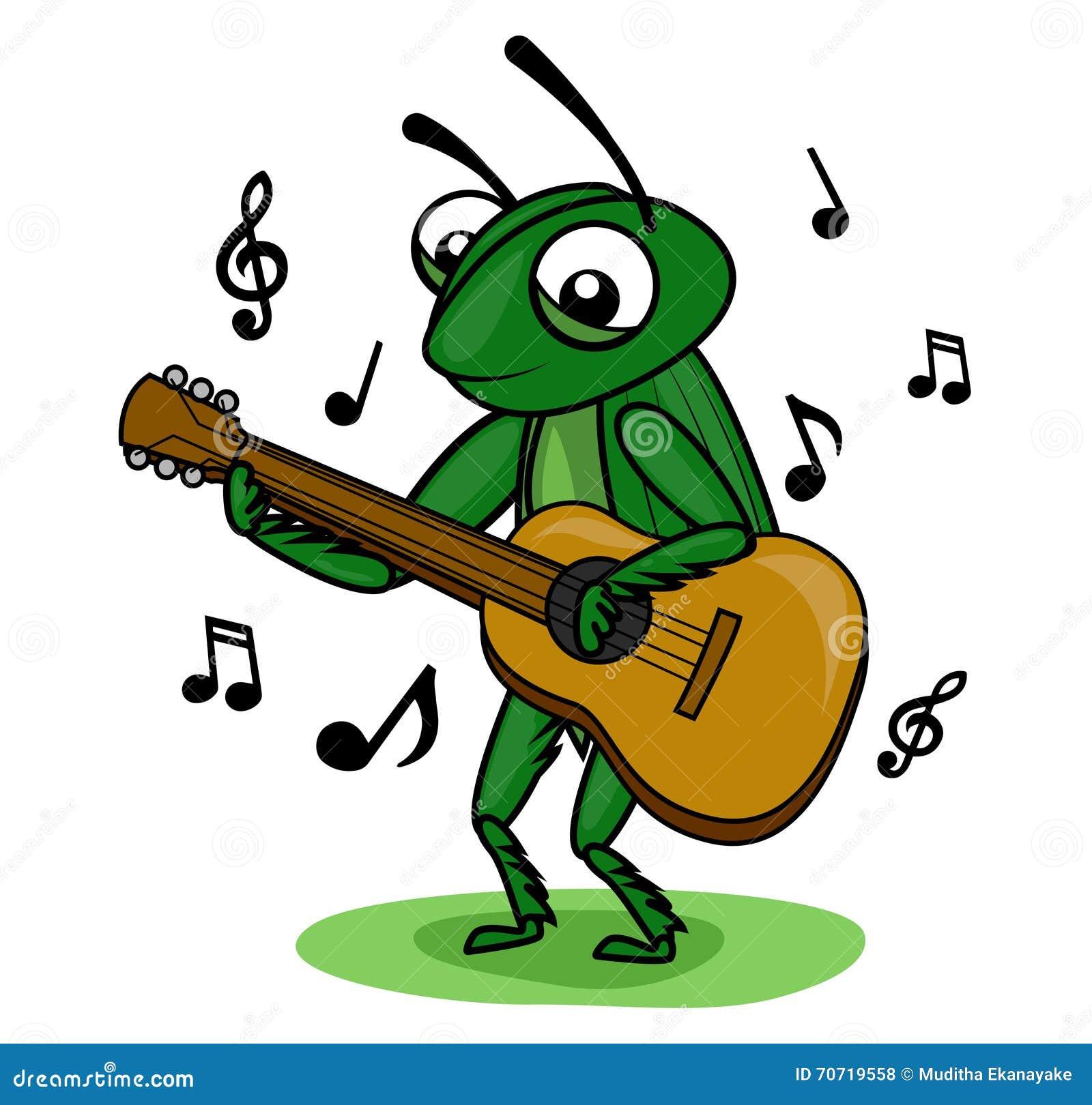 cricket music guitar stock vector image 70719558 musical notes clip art borders music notes clip art free