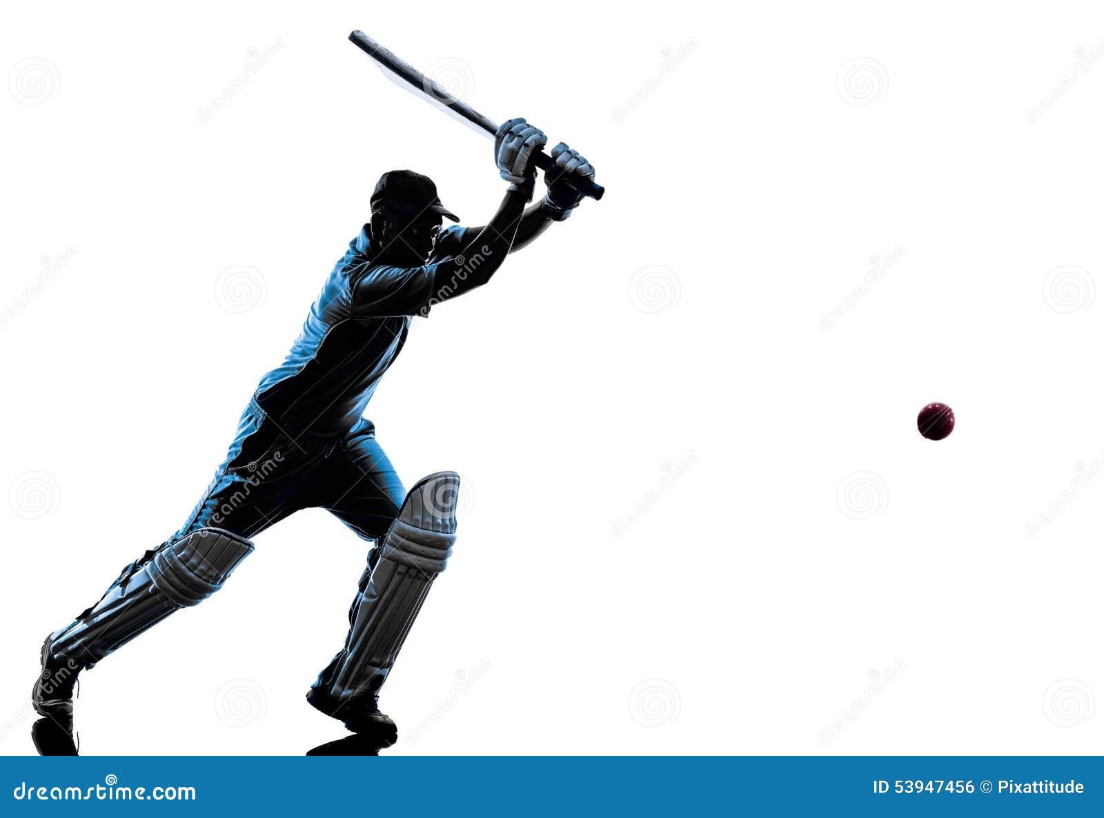 how to draw a cricket batsman