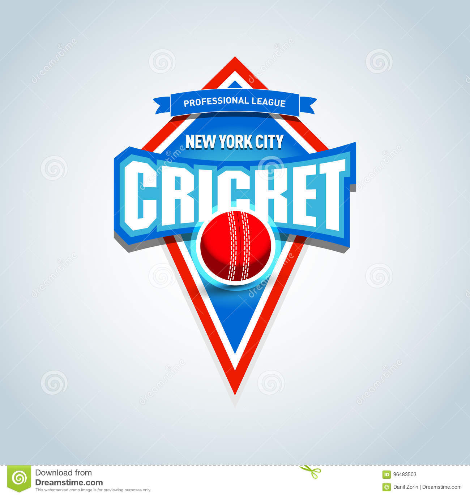 cricket sports logo label emblem cricket badge logo template