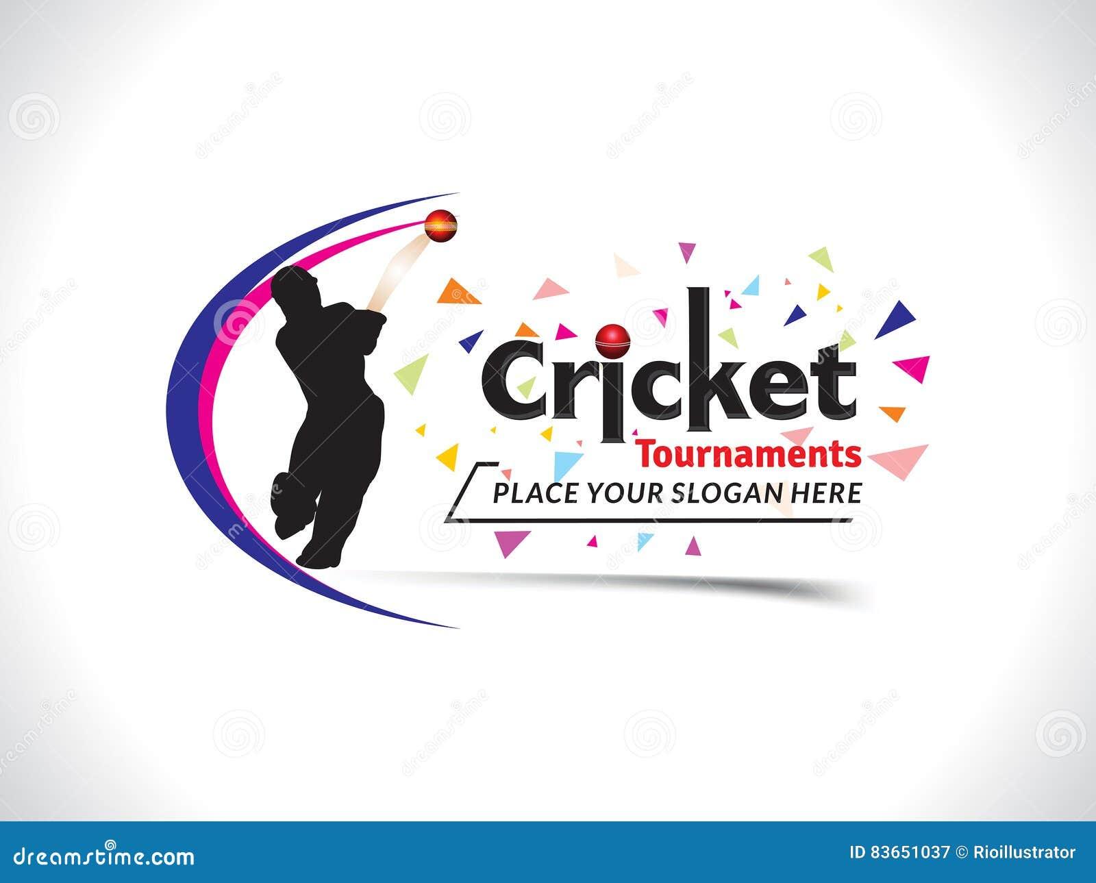Cricket tournament banner background