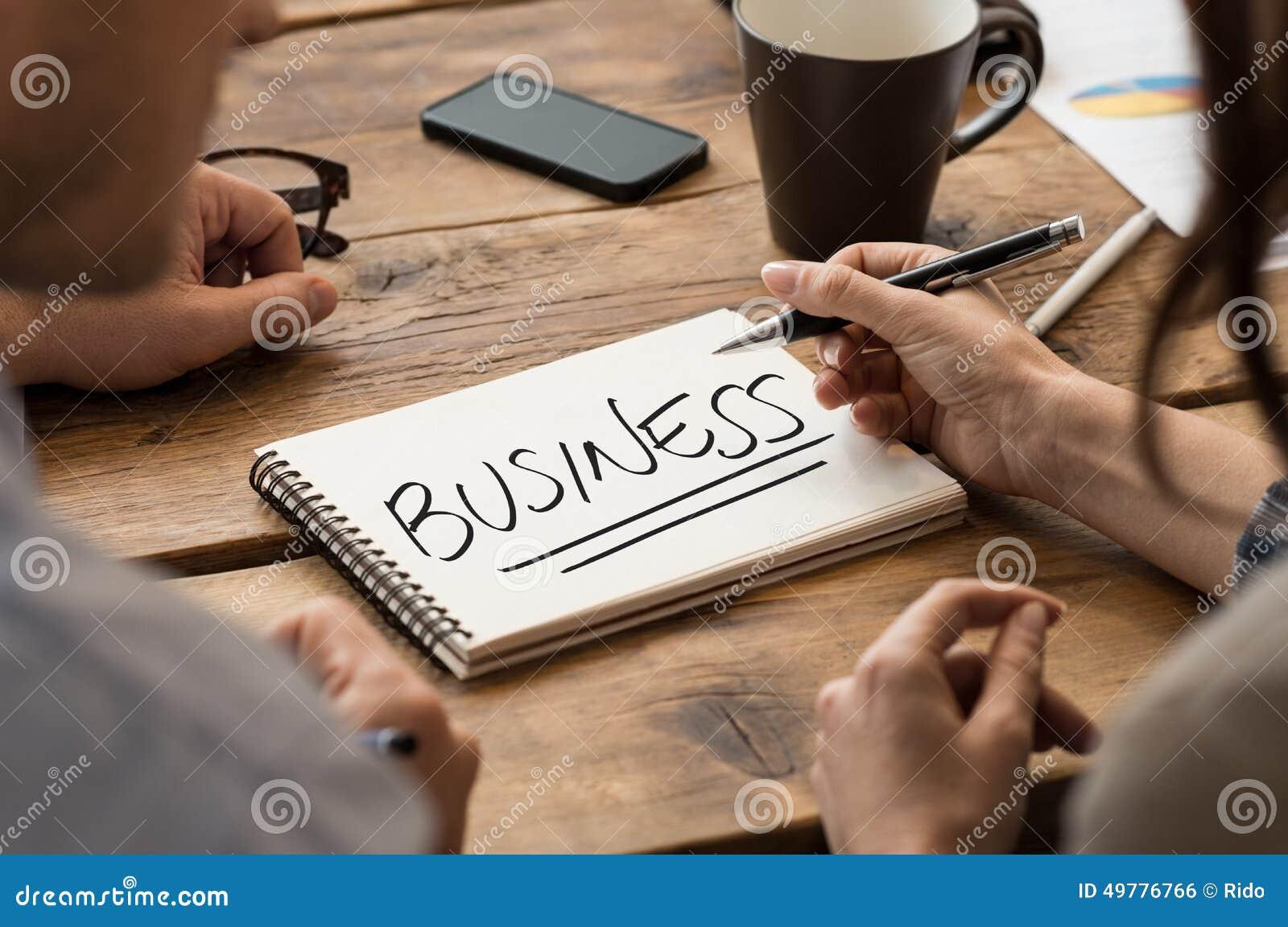 Crie o negócio
