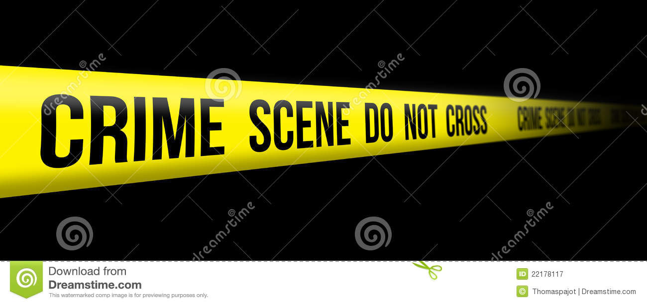 Crime scene do not cross royalty free stock photography image
