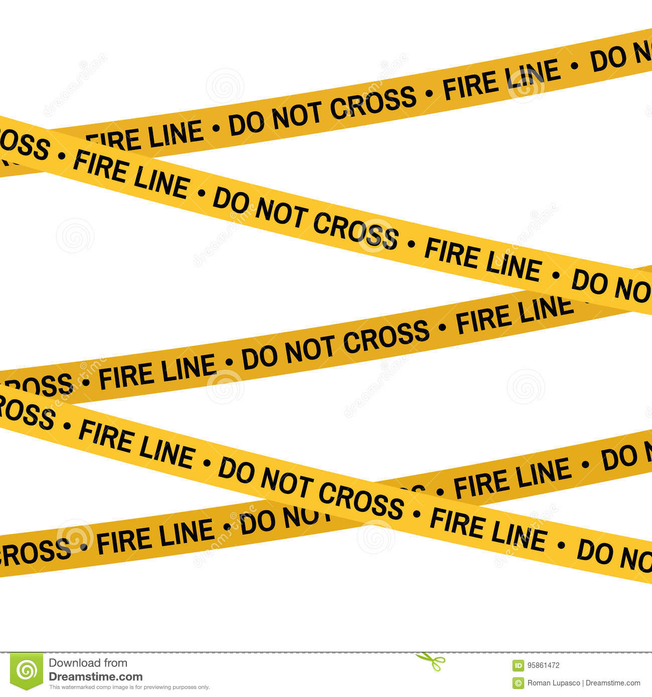 Crime Scene Fire Line Yellow Tape Police Line Do Not Cross Tape Cartoon Flat Style Illustration White Background Stock Illustration Illustration Of Crime Forensic 95861472