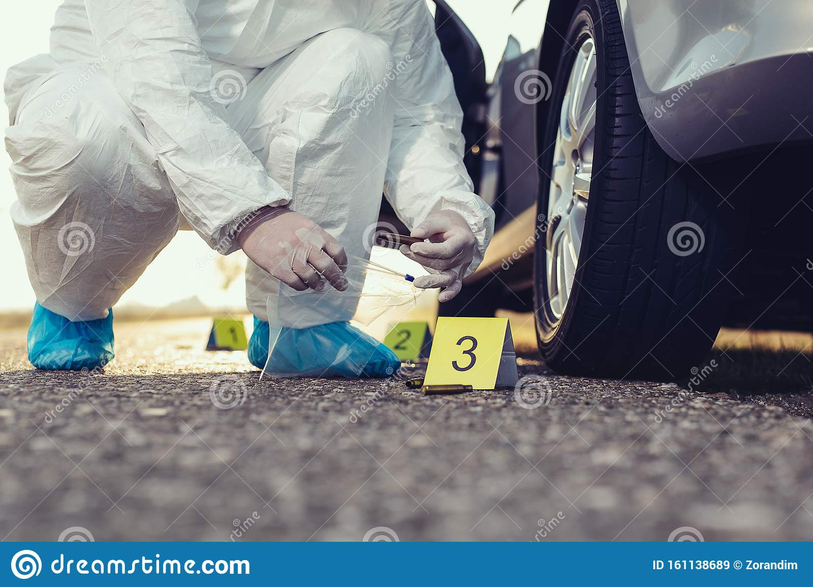 Crime Scene Investigation Forensic Science Place Of Shooting Stock Image Image Of Equipment Glass 161138689