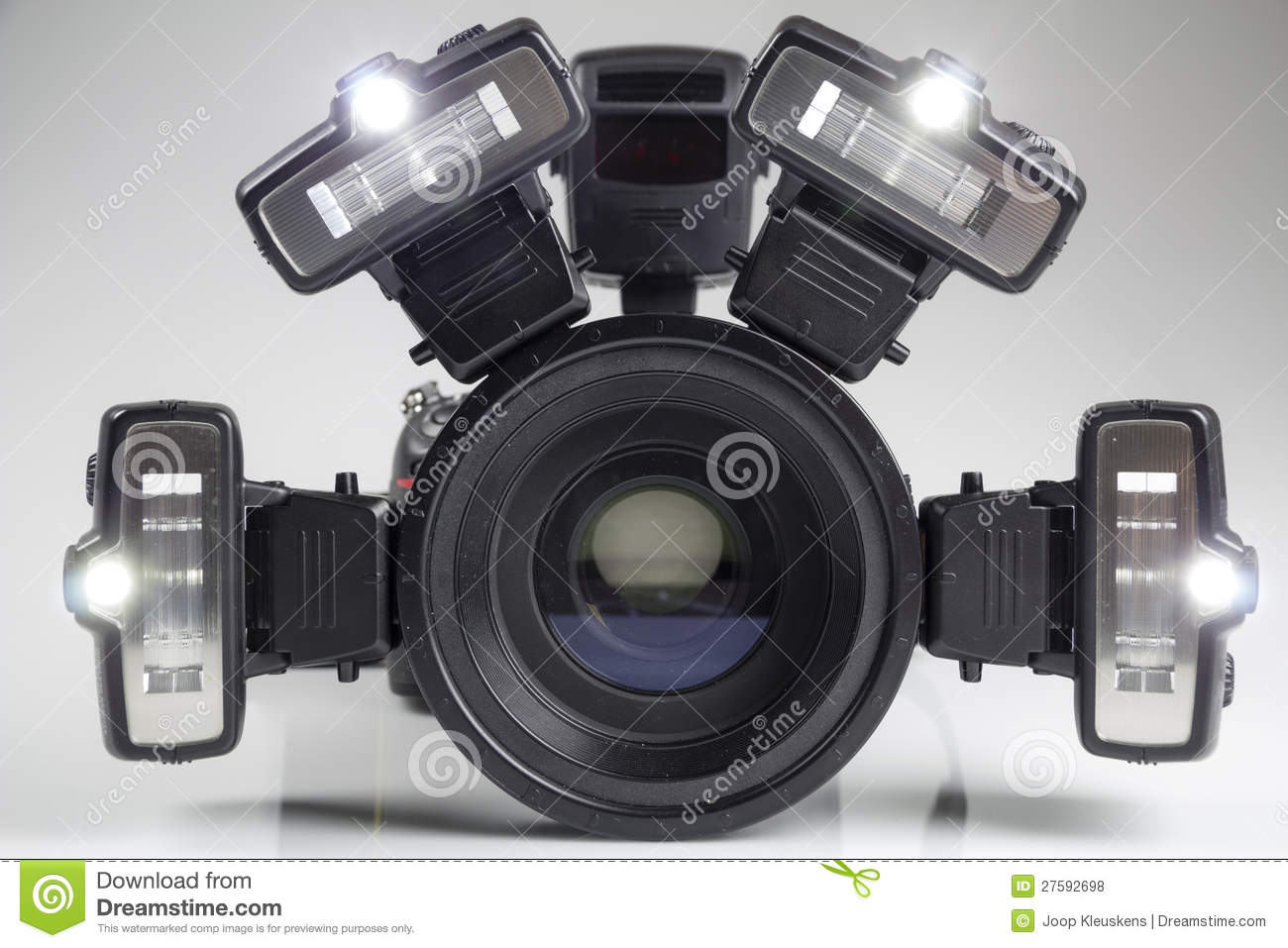Crime Scene Investigations Dslr Camera Stock Photo Image
