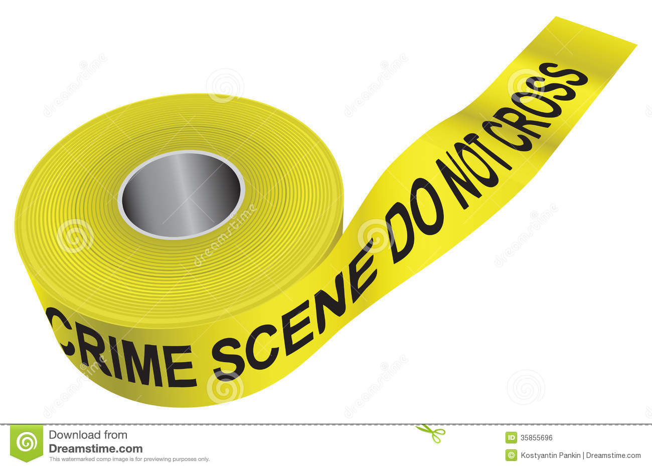 Crime Scene Tape Royalty Free Stock Image - Image: 35855696