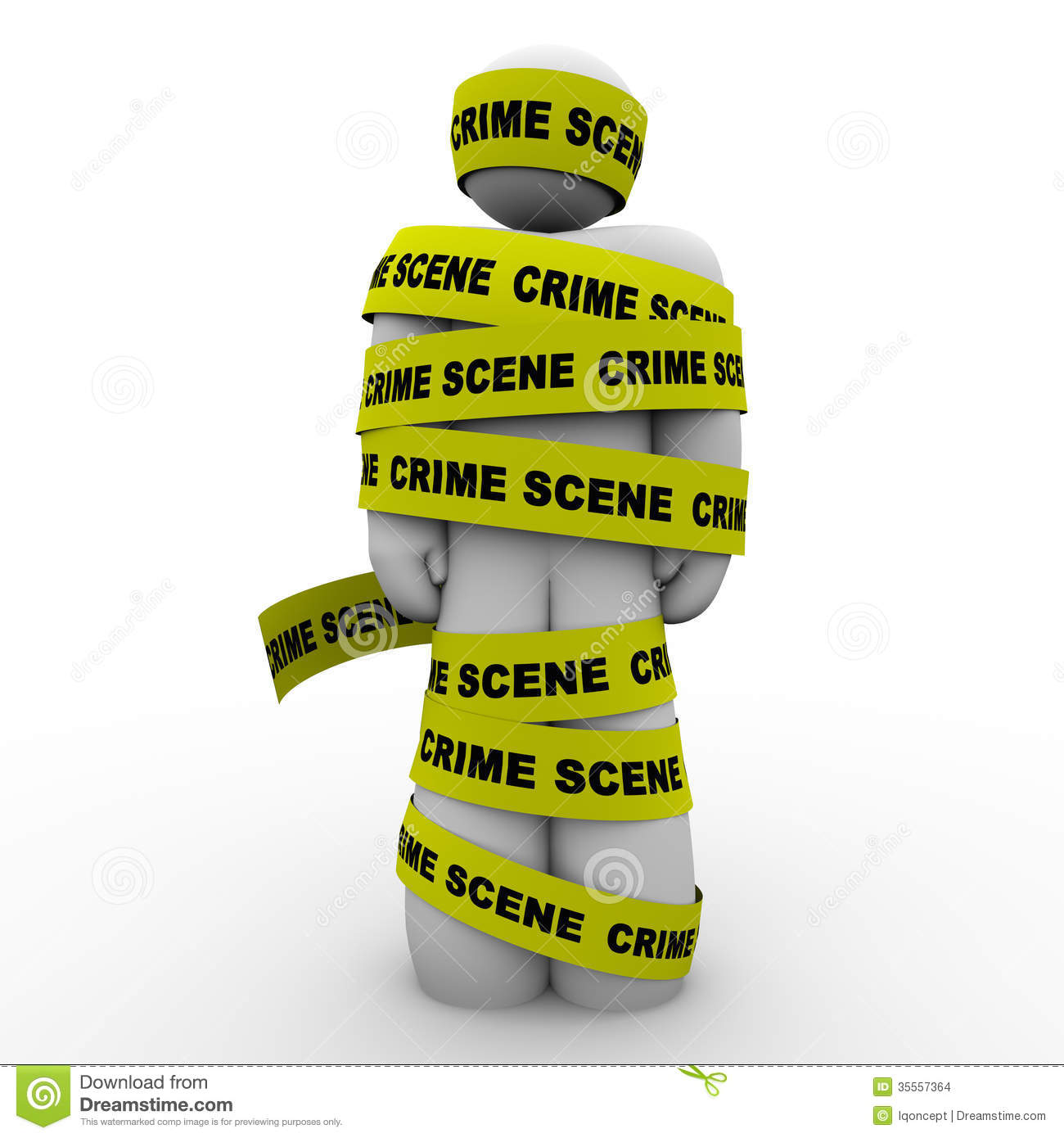 Crime Scene Yellow Tape Suspect Wrapped Detained Arrested Stock Images ...