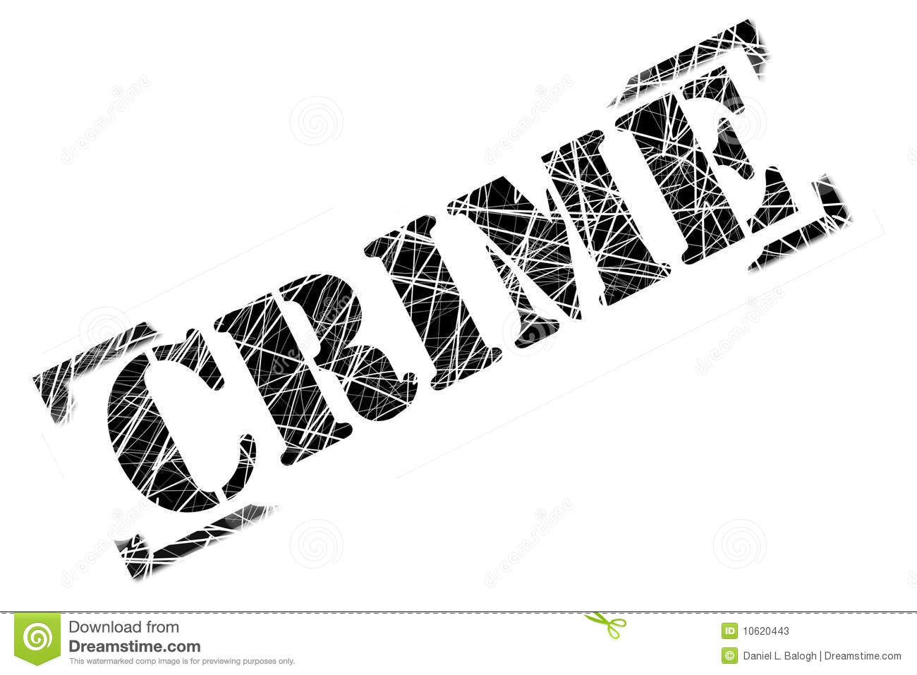 Crime Stamp Stock Photos - Image: 10620443