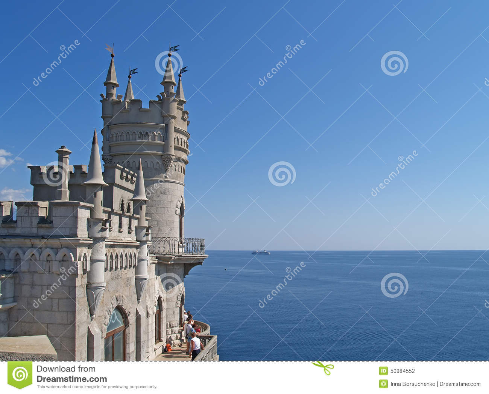 Crimea Vista de la jerarquía y del Mar Negro del trago
