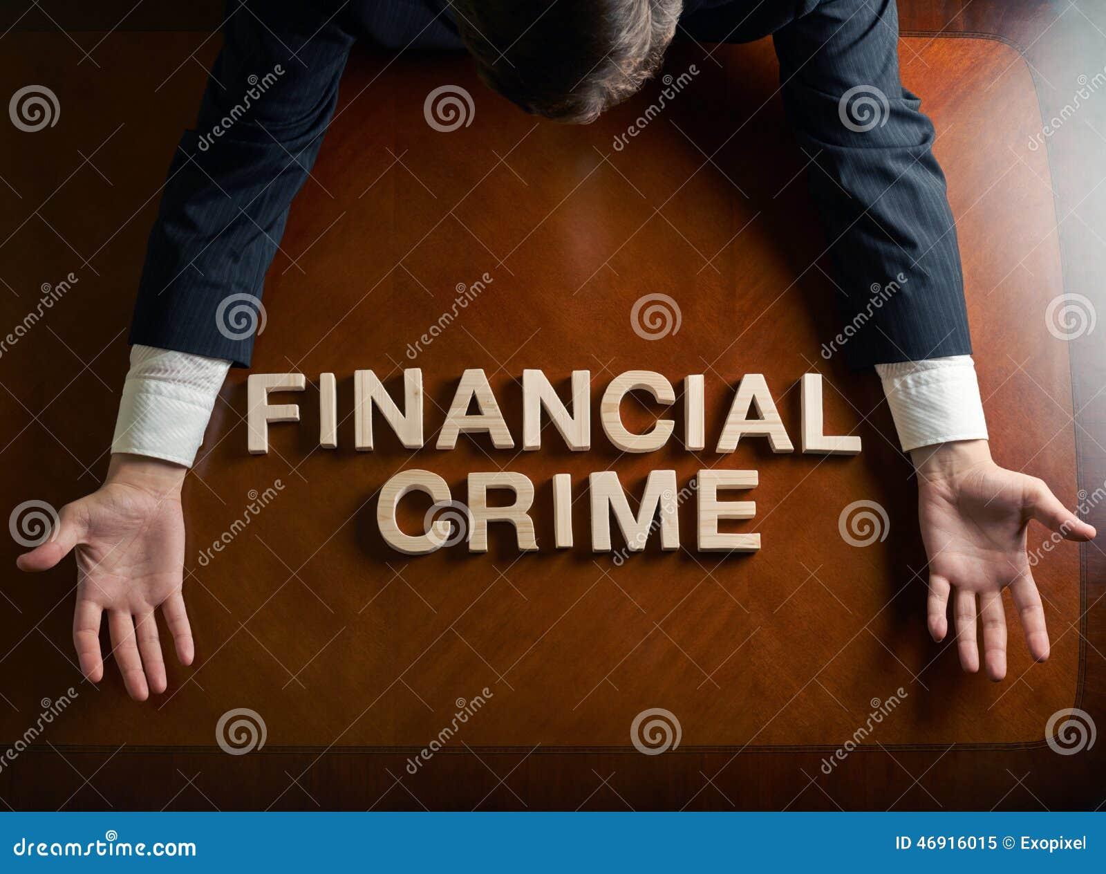 Crimen Financiero De La Frase Y Hombre Devastado Imagen De