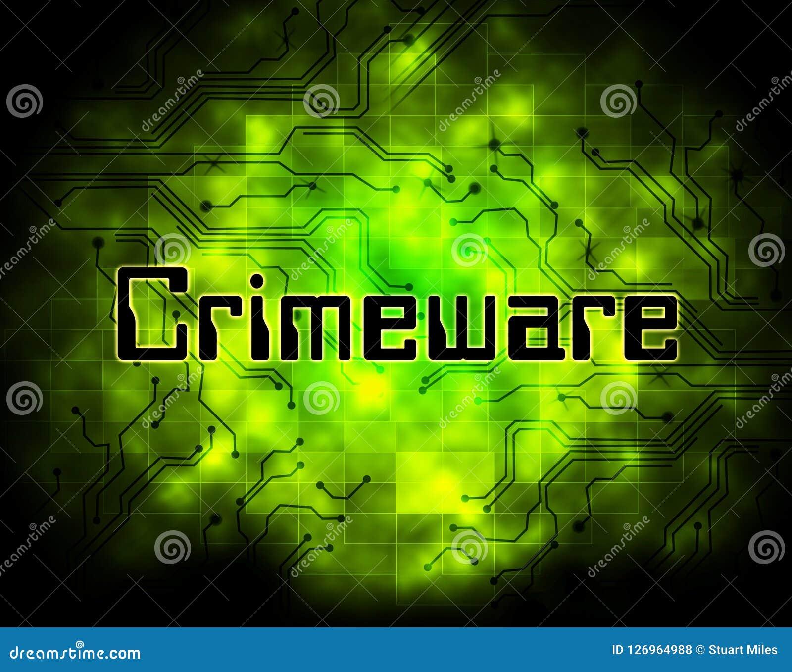 Crimeware Digital Cyber Hack Exploit 2d Illustration