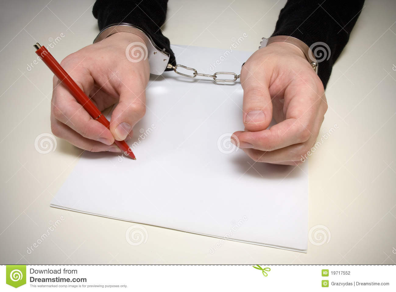 criminal confession   stock photography