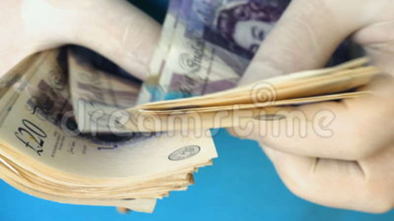 Criminal Hands In Gloves Counting British Sterling Pounds Notes. Money  Laundering Concept Stock Video - Video of ideas, currency: 97394583