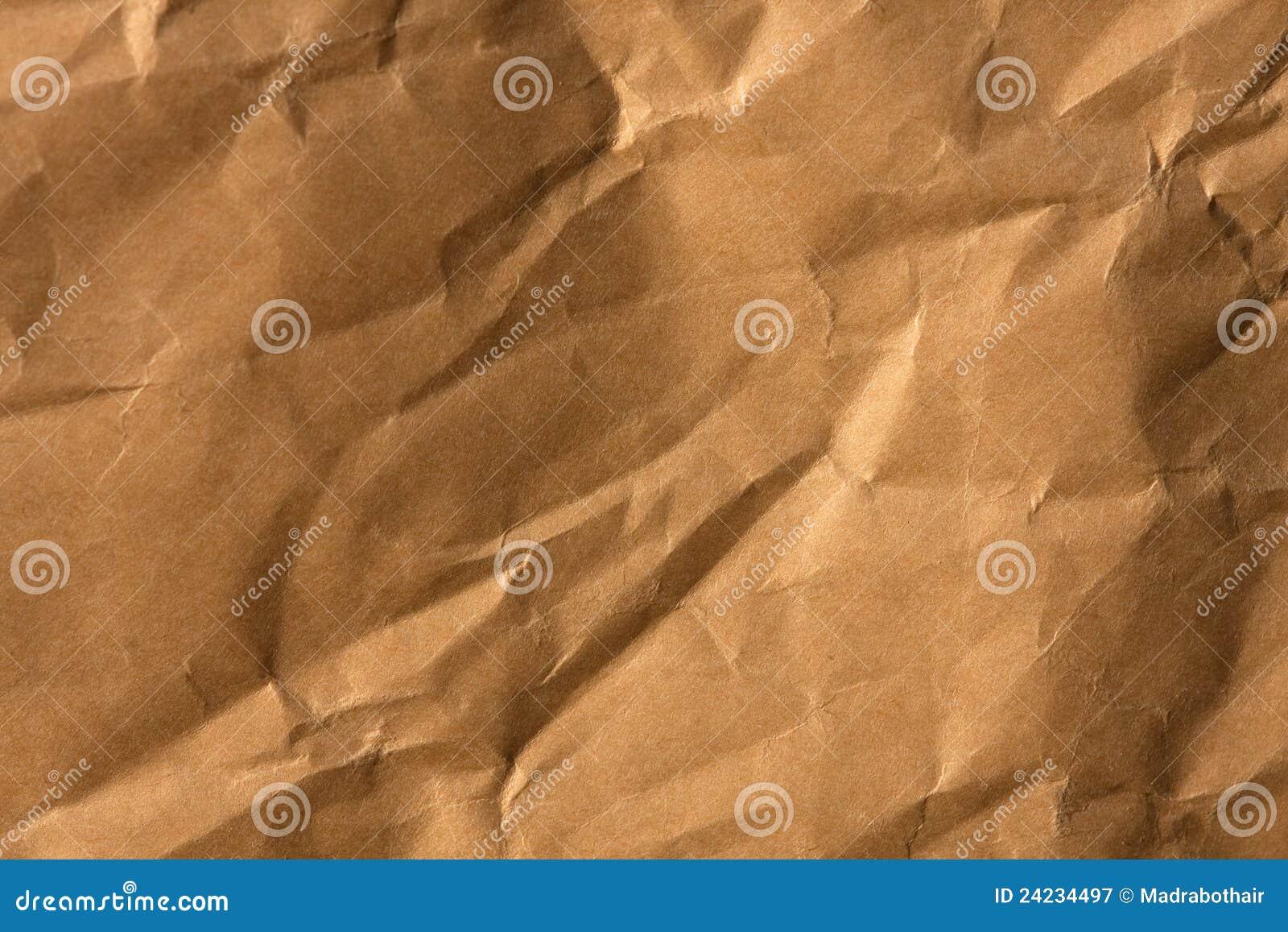 Crinkled brown paper texture