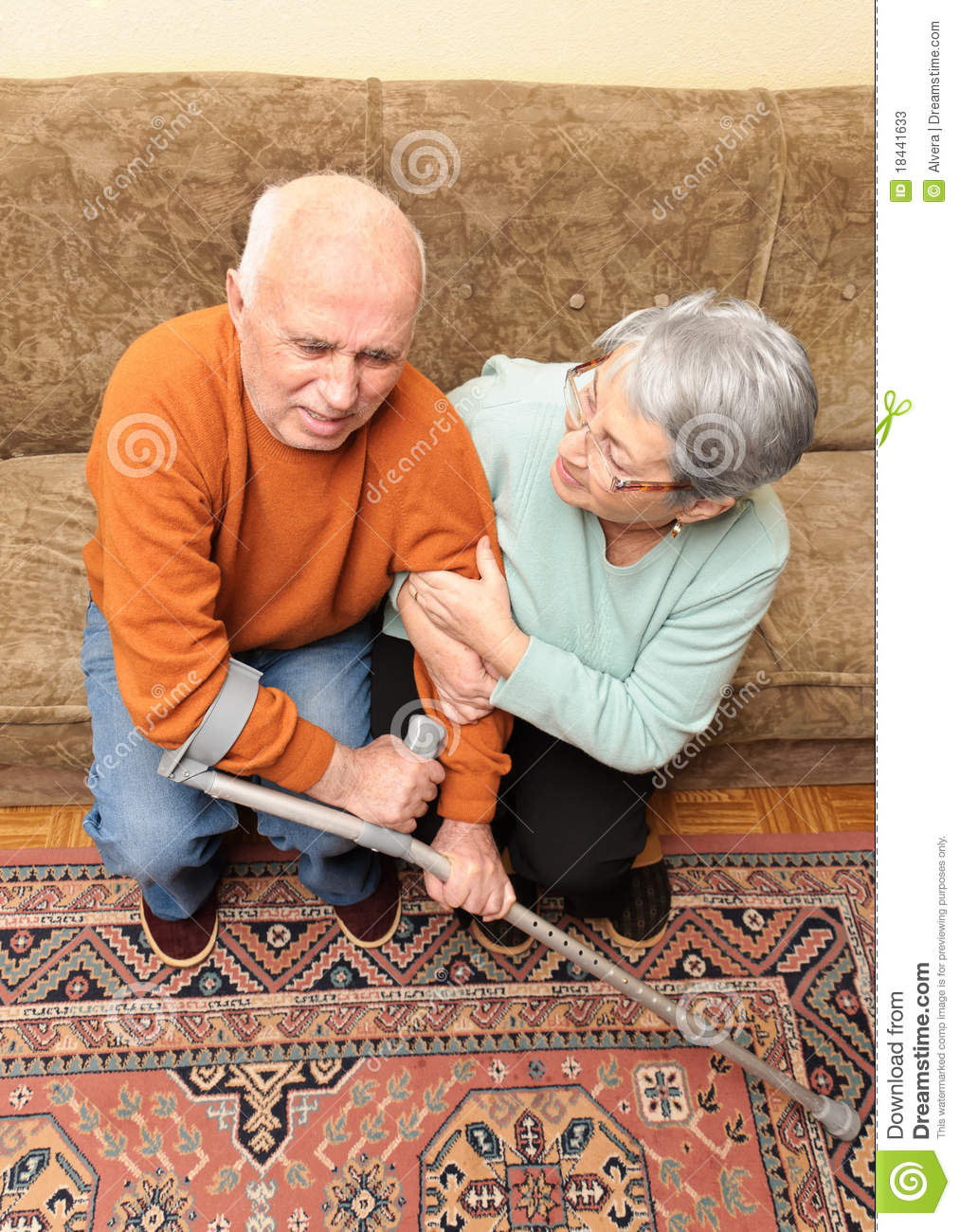 Crippled Old Man In Pain Stock Image Image Of Casual