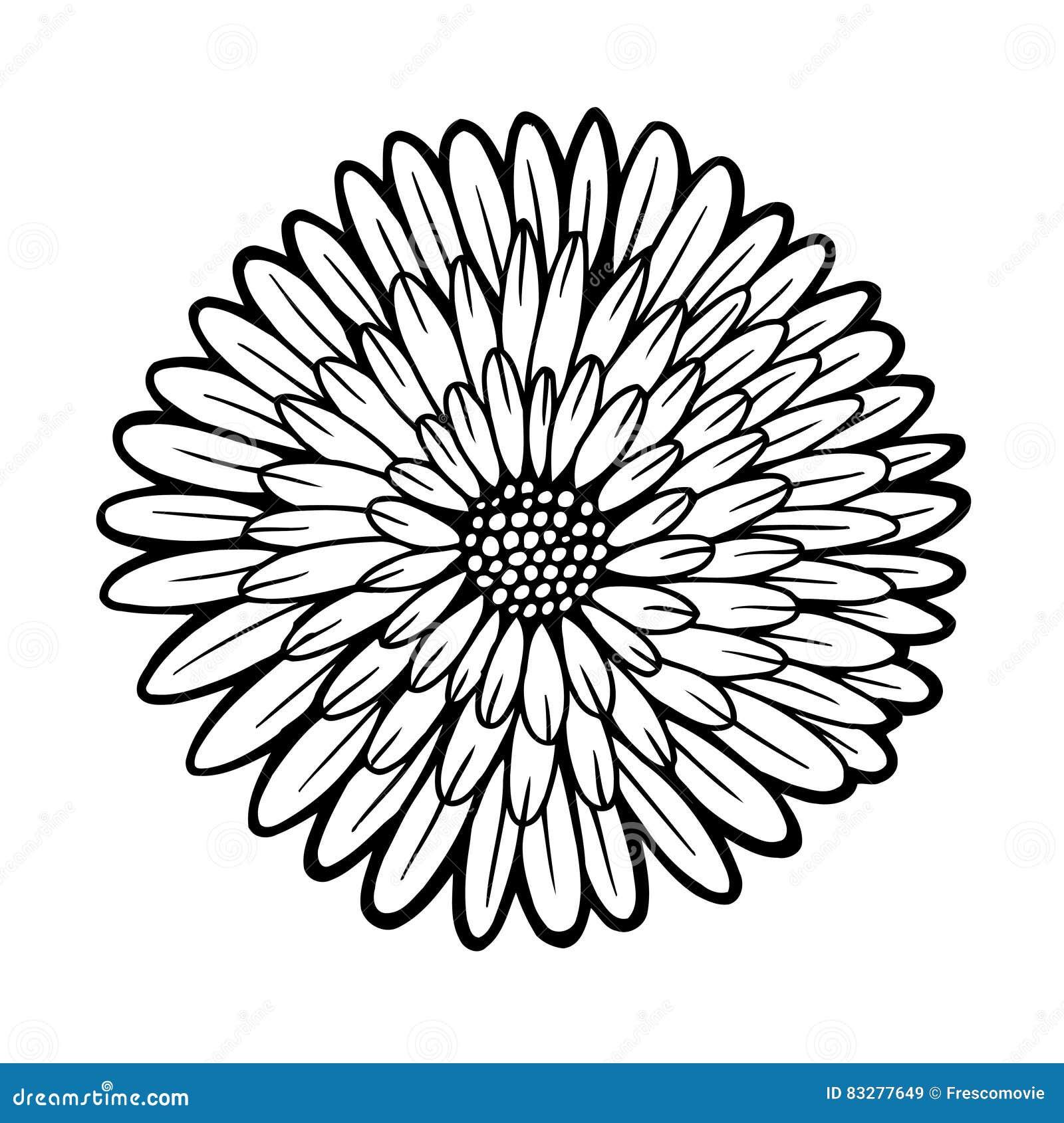 Atractivo Colorear Crisantemo Modelo - Ideas Para Colorear ...