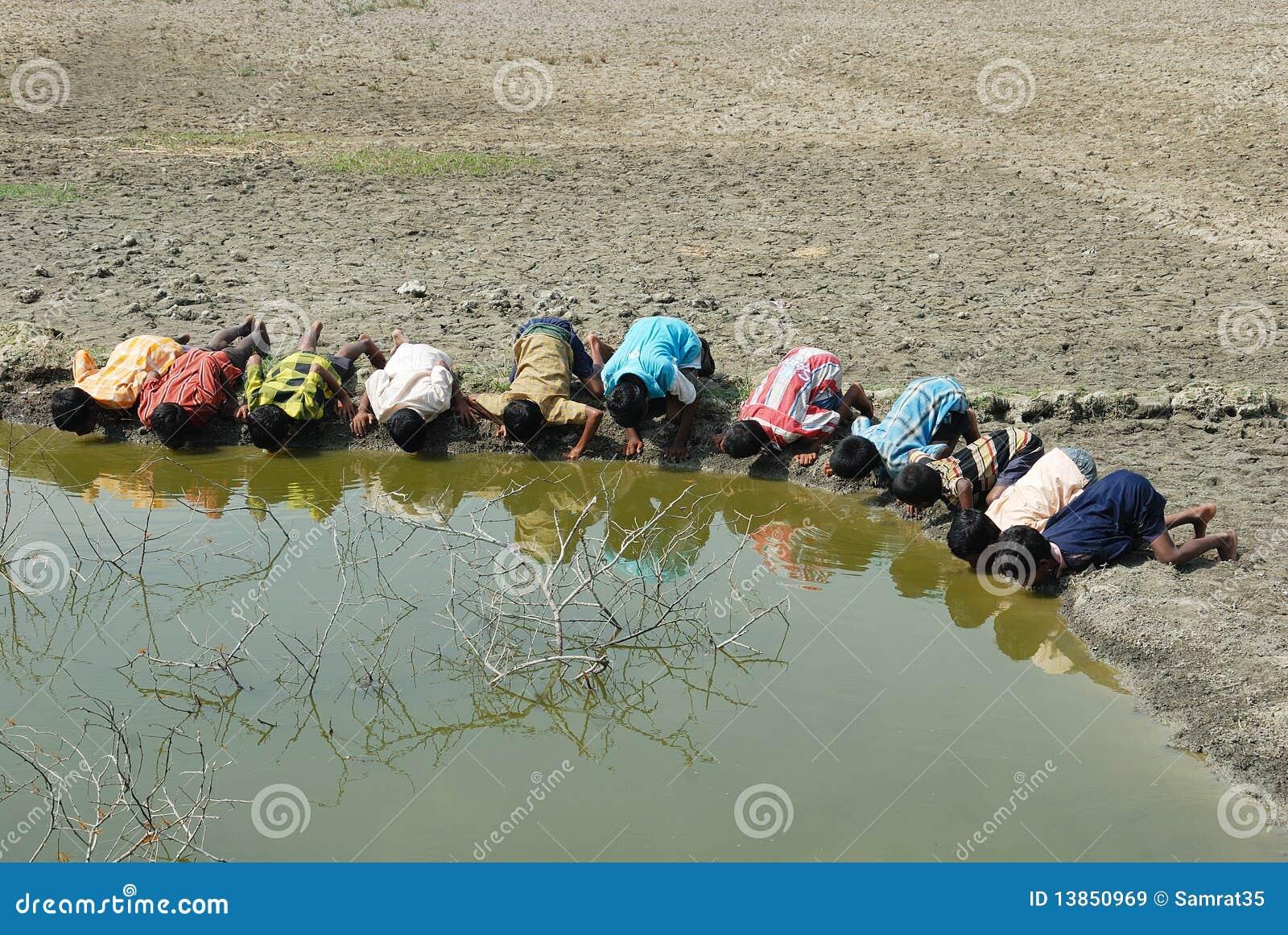 Crise de l eau en Sundarban-Inde.