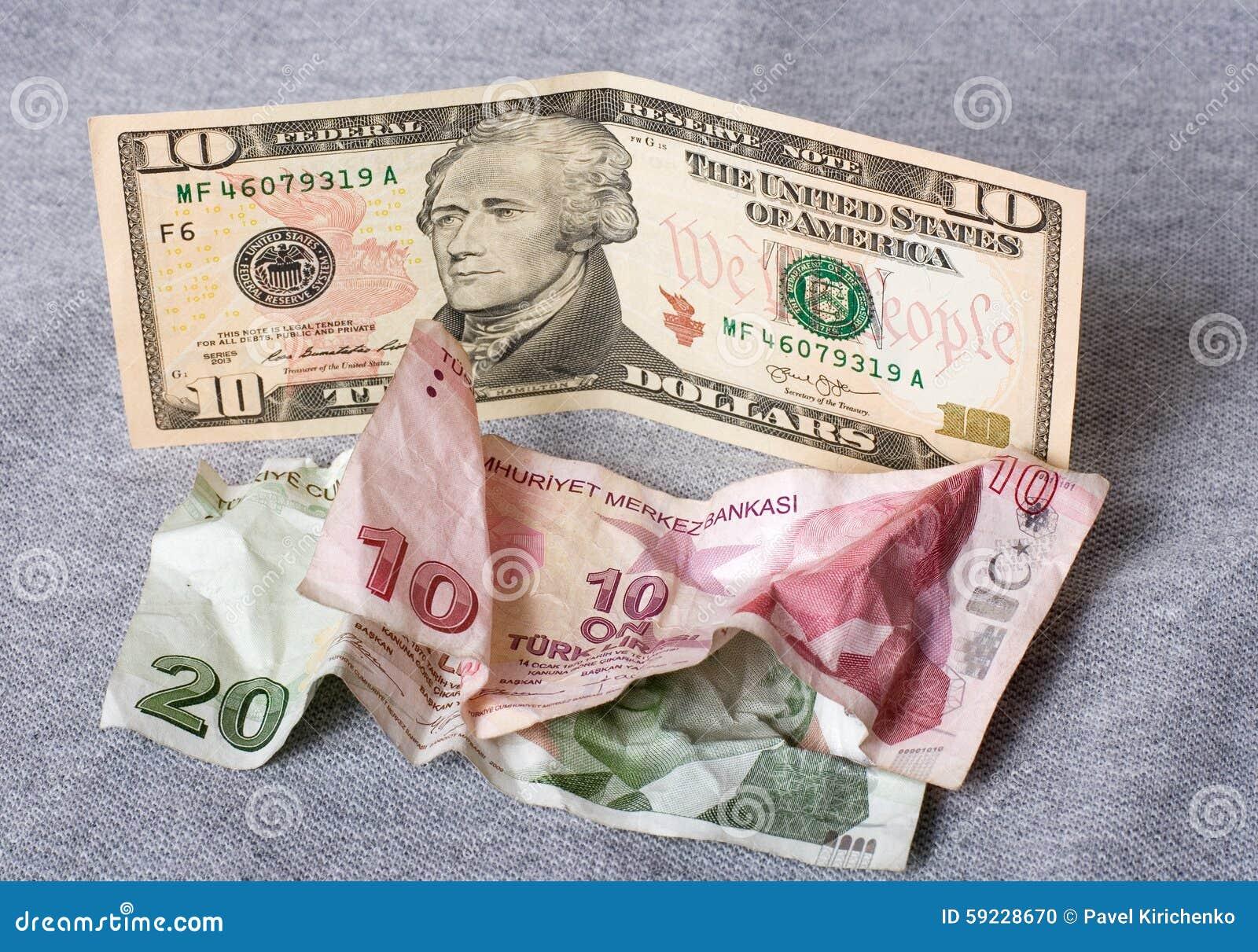 Crisis financiera: nuevos dólares sobre liras turcas arrugadas