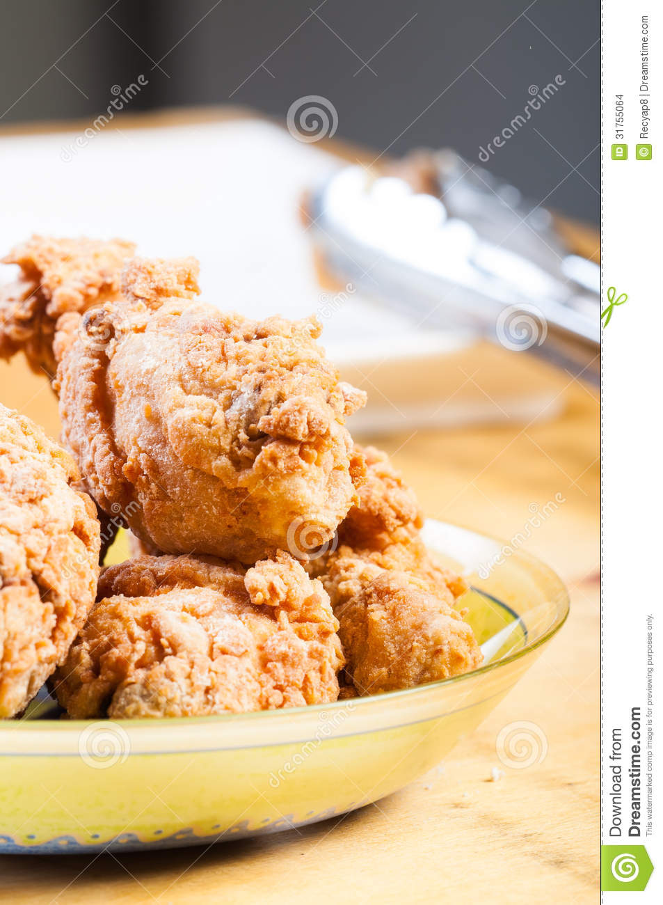 Crispy Fried Chicken Mix With Herbs And Spices Stock ...