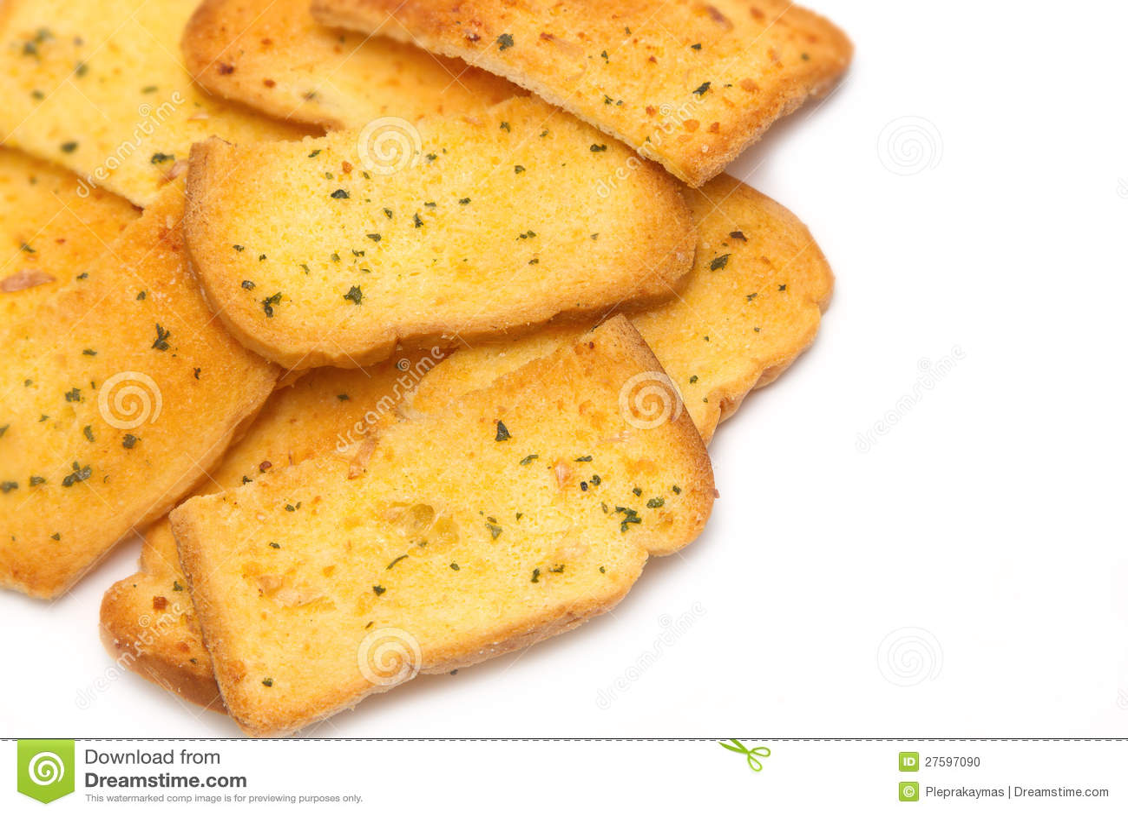 Crispy Garlic Bread Stock Photo - Image: 27597090