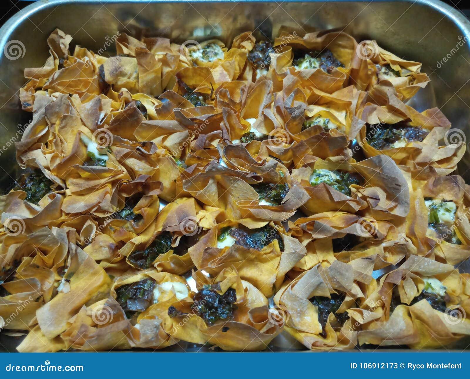 Crispy gorący gotujący kózka sera tartlets