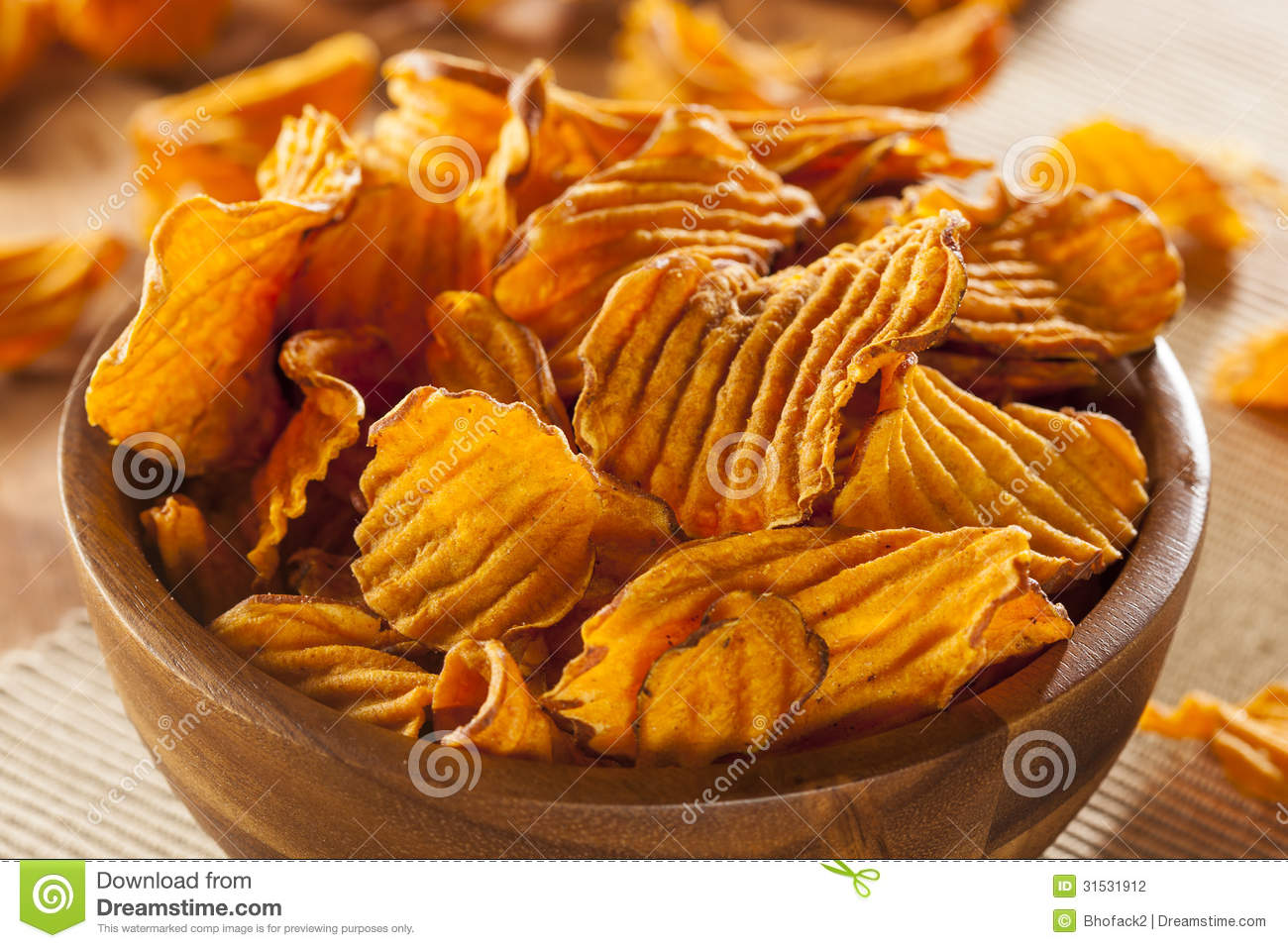 how to cook crispy sweet potato chips