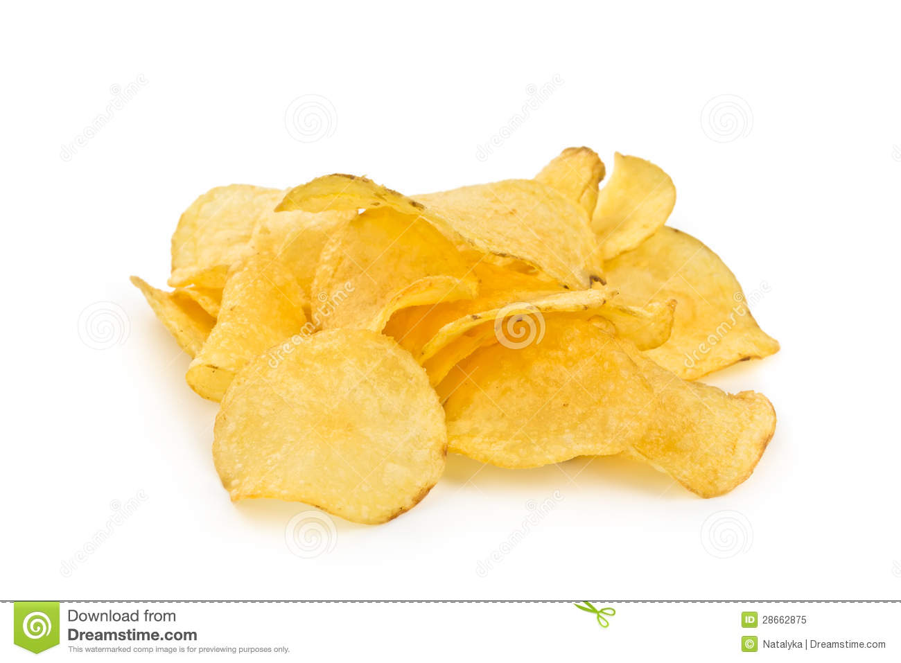 Crispy Potato Chips Royalty Free Stock Photo - Image: 28662875