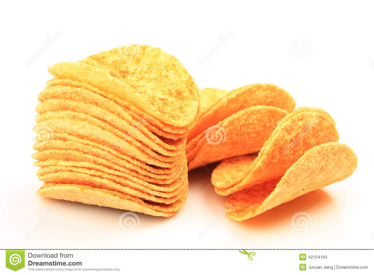 Crispy Potato Chips Stock Photo - Image: 42154194